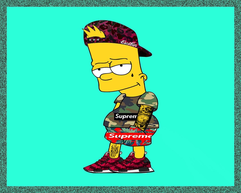 Fondos De Pantalla Supreme: Wallpaper : Bart Simpson, Pixel Art, Seraphim SC, Supreme