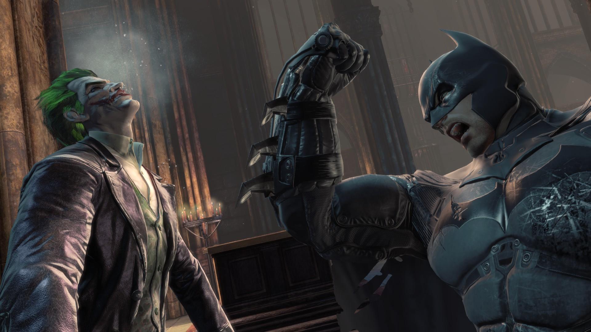 Wallpaper Batman Arkham City Joker Darkness Screenshot