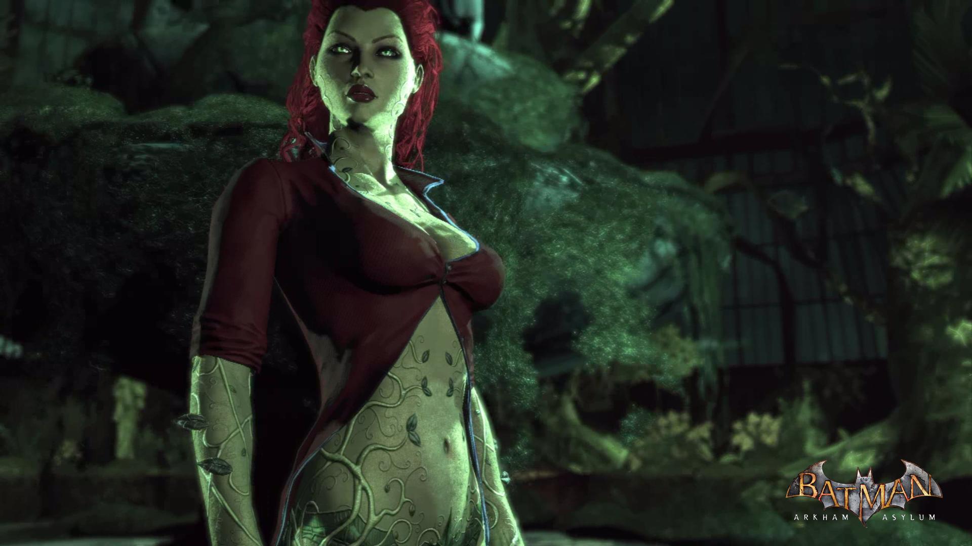 Wallpaper Batman Arkham Asylum Poison Ivy Video Games
