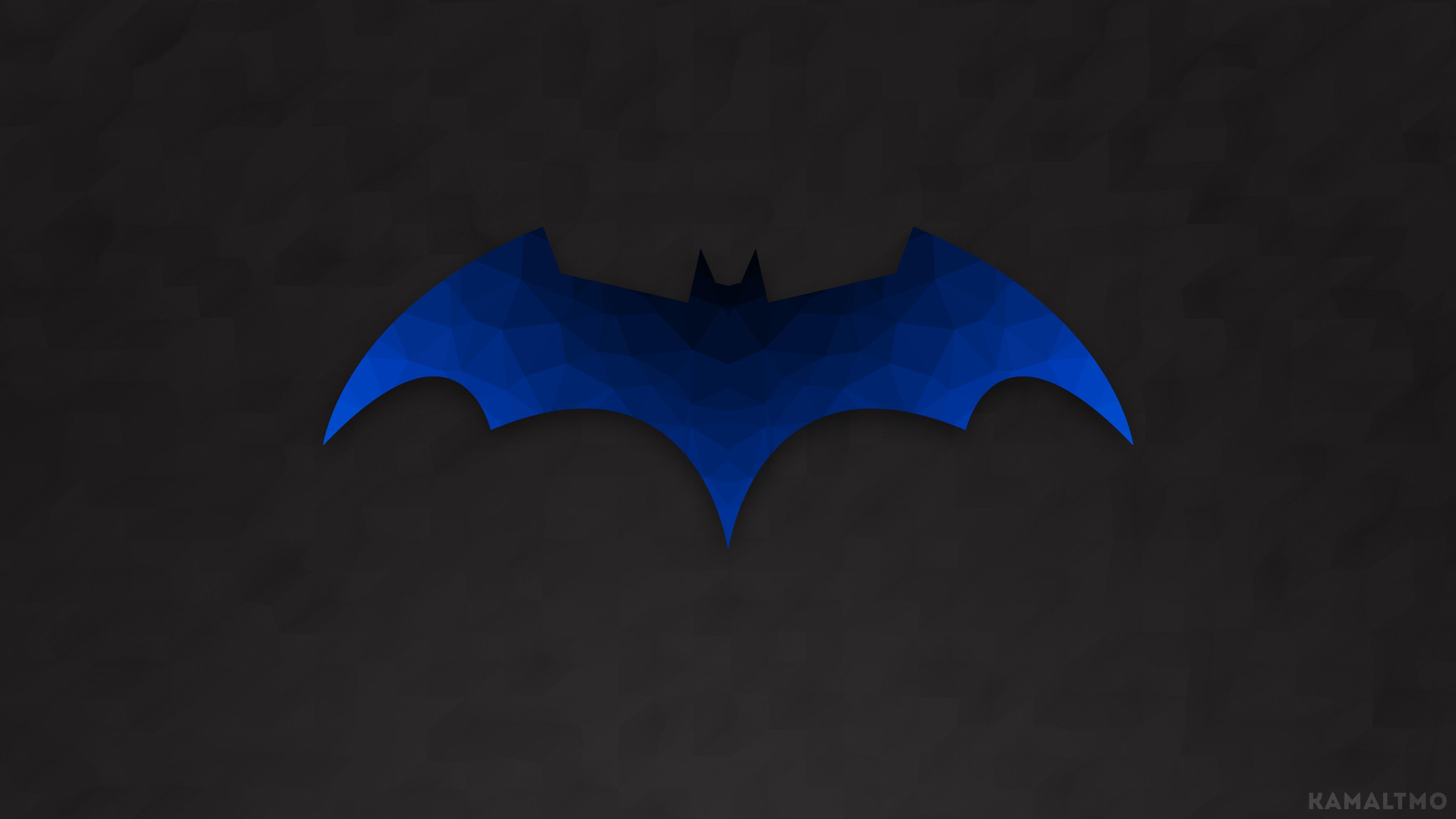 Masaüstü Yarasa Adam Batman Logosu Logo çokgen Sanat Düşük