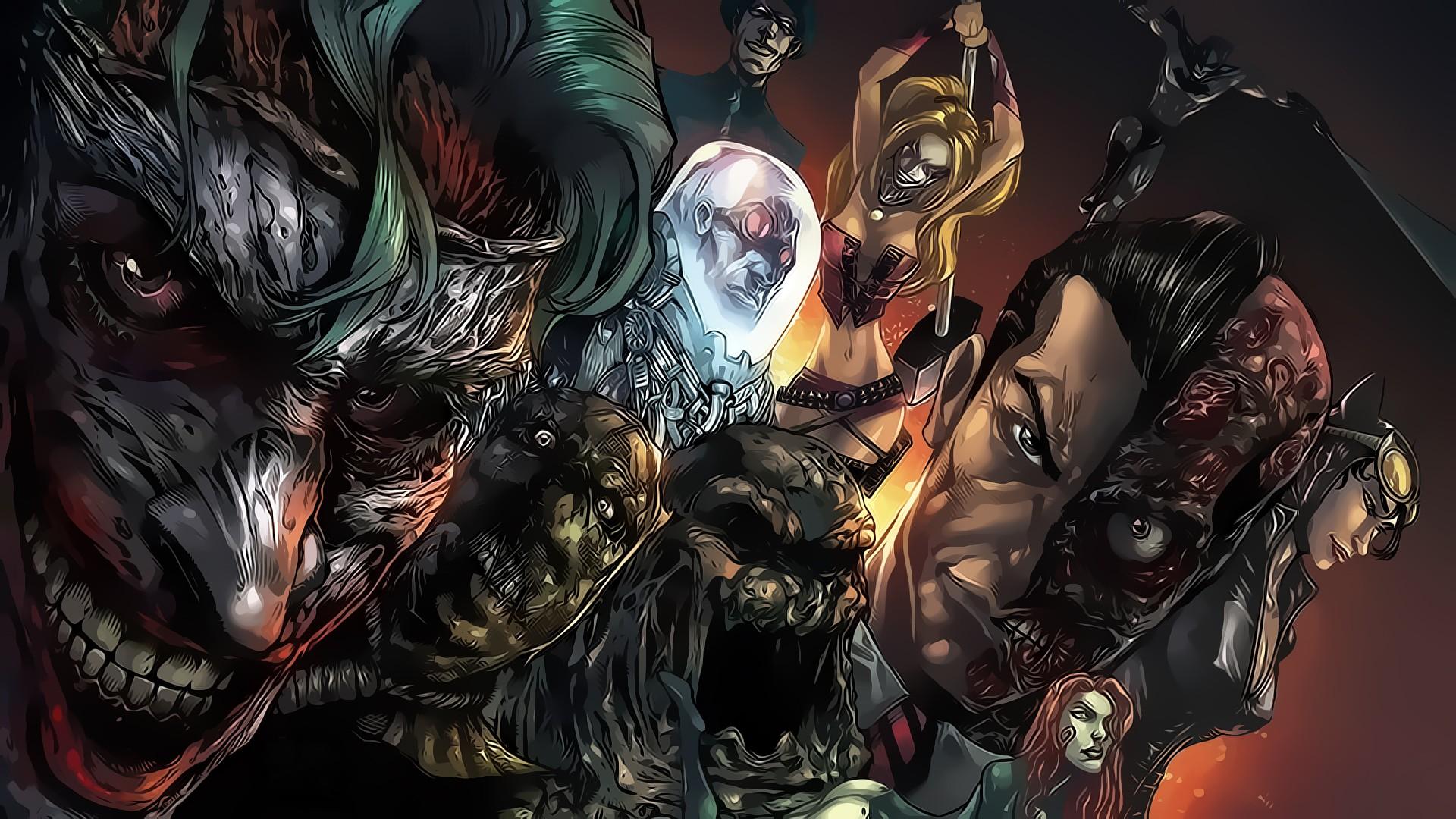 Злодеи из комиксов картинки