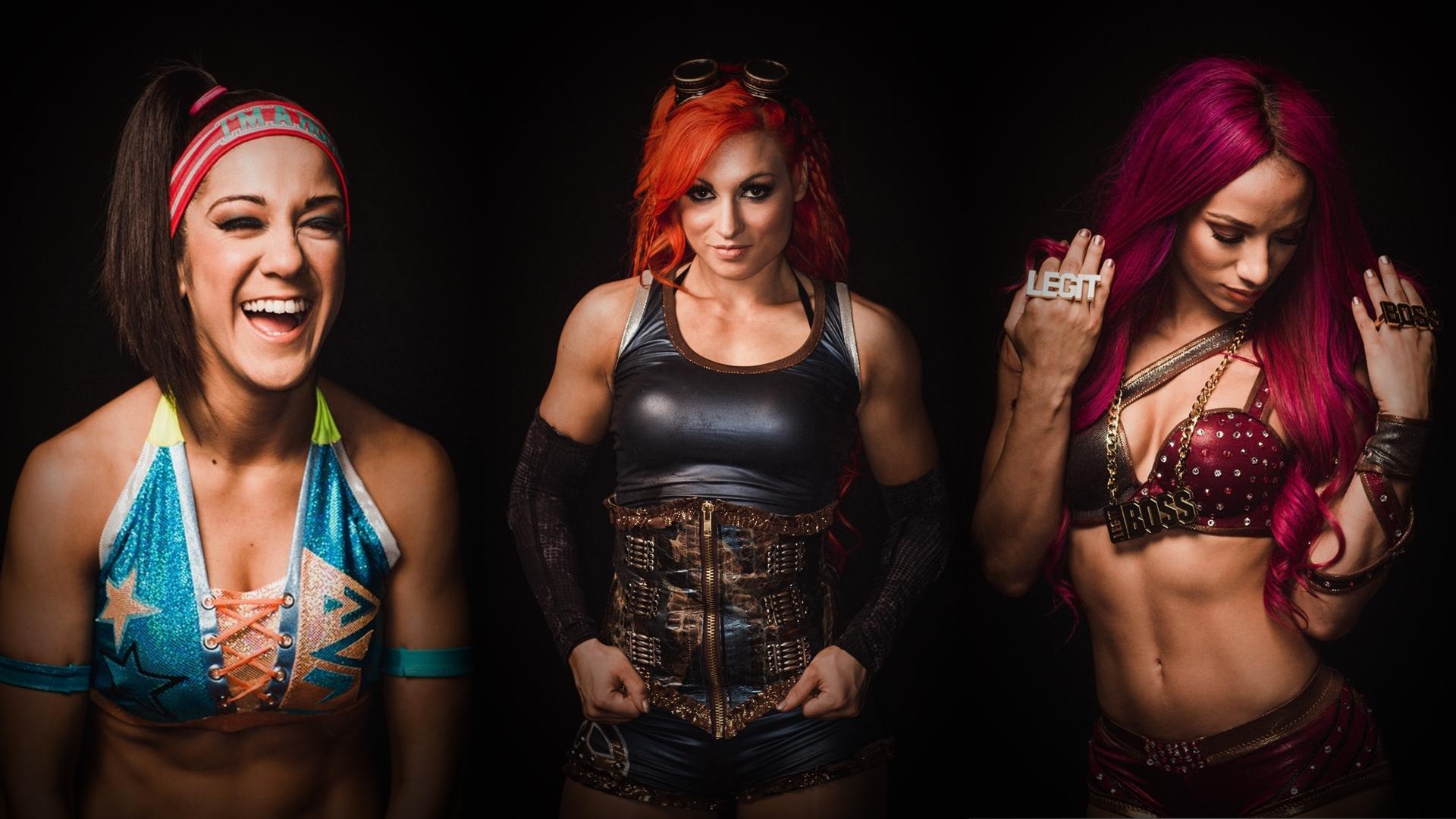 Bayley, Becky Lynch, Sasha Banks