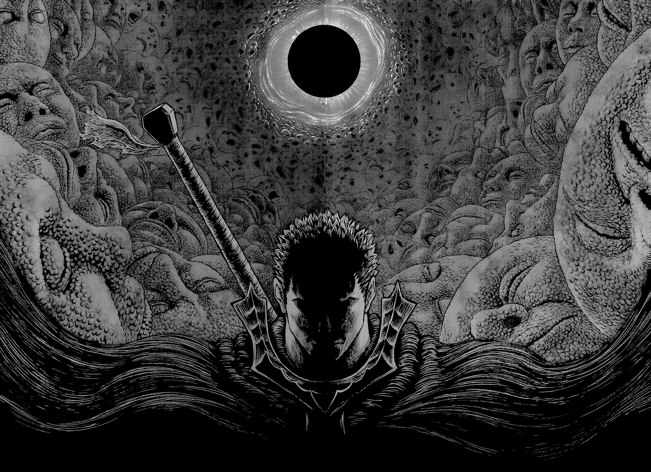 Wallpaper Berserk Kentaro Miura Guts Manga 2208x1600