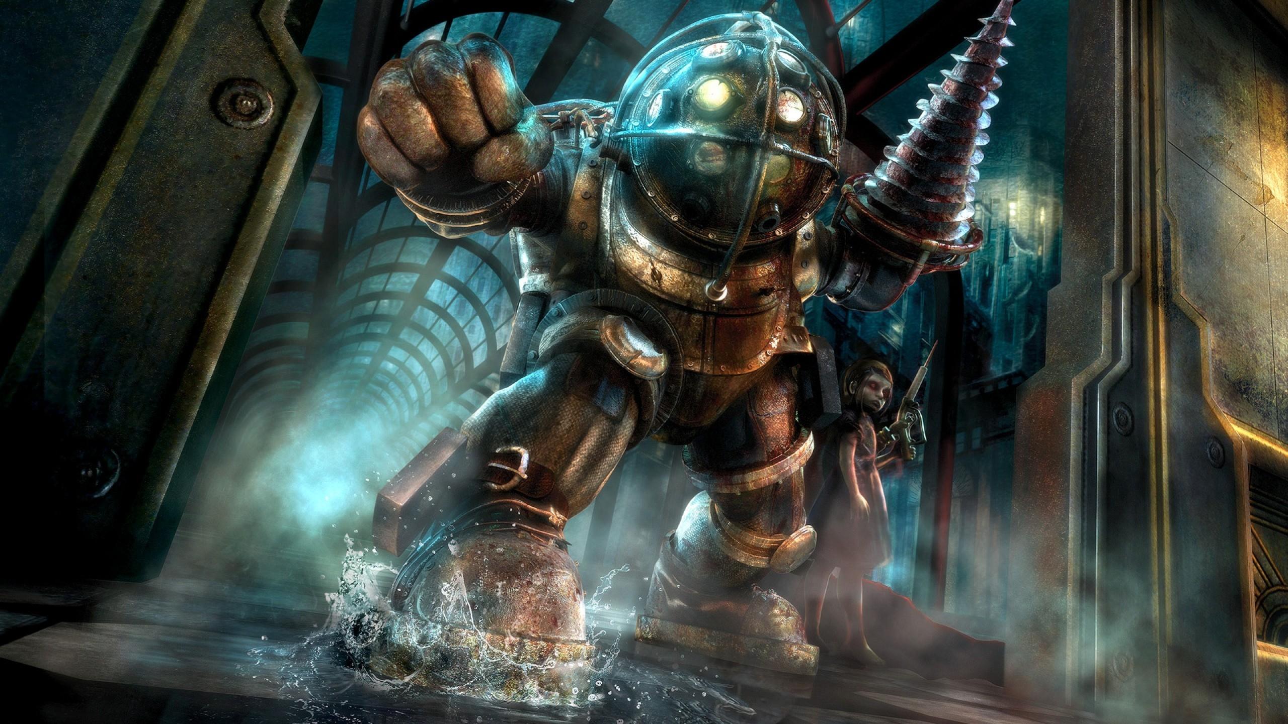Wallpaper Big Daddy Bioshock Mythology Little Sister