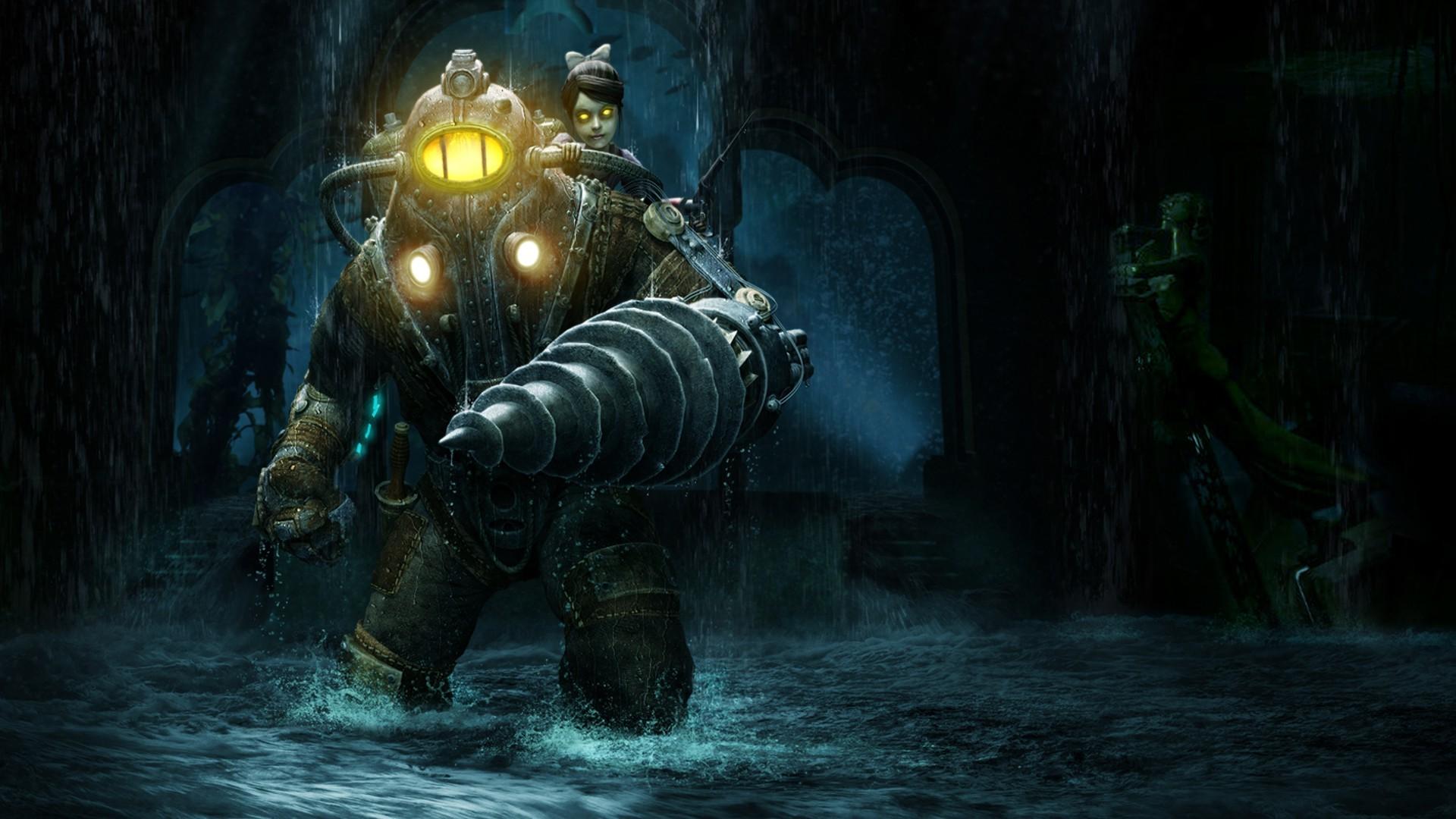 Wallpaper Big Daddy Bioshock Mythology Midnight Ghost Ship