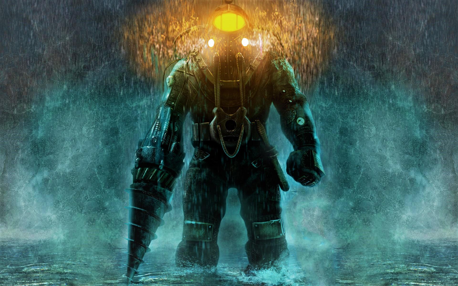 Wallpaper Big Daddy Video Games Bioshock 2 1920x1200