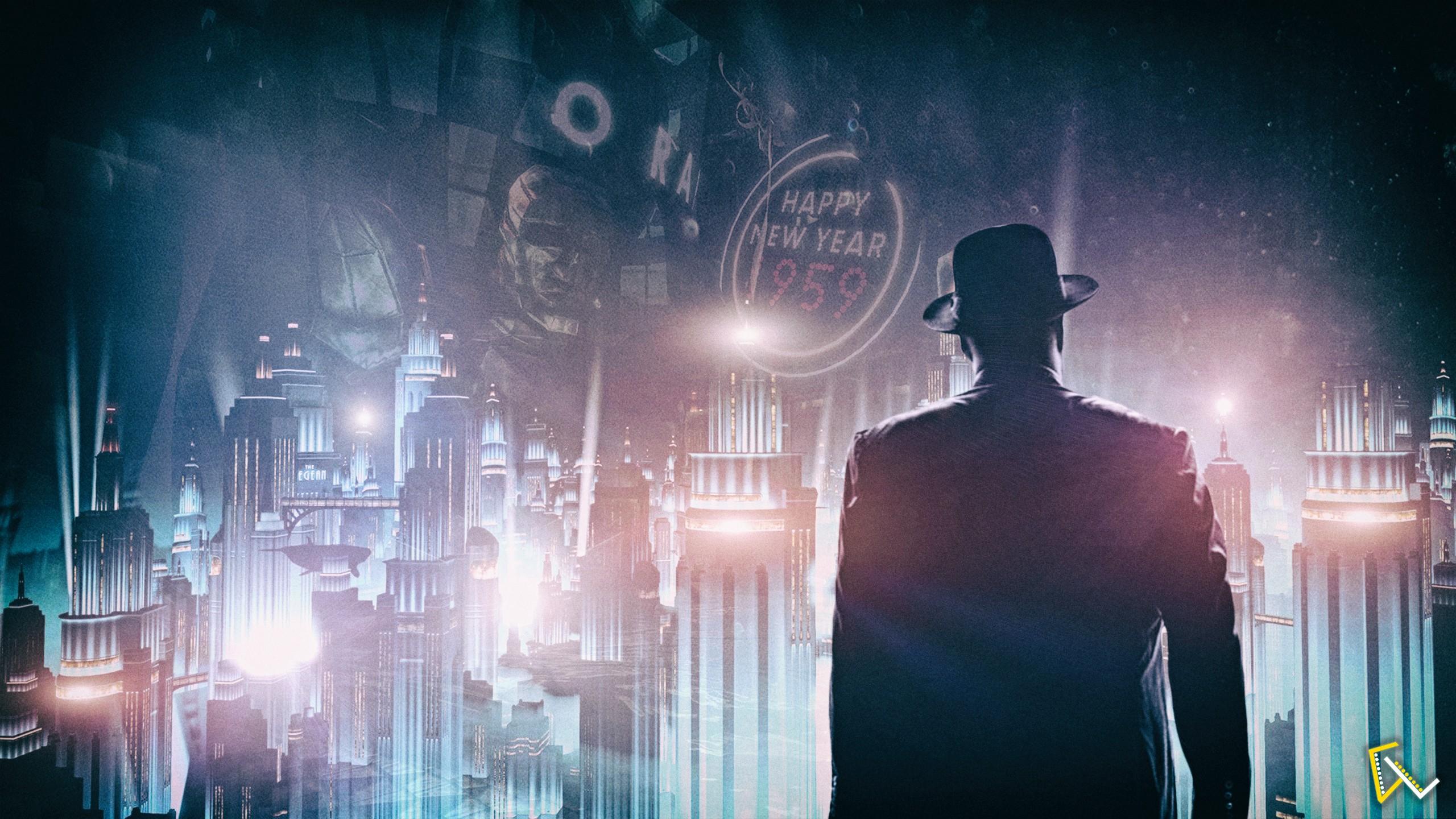 BioShock Infinite Burial At Sea Video Games Cityscape Rapture Digital Art Photoshop