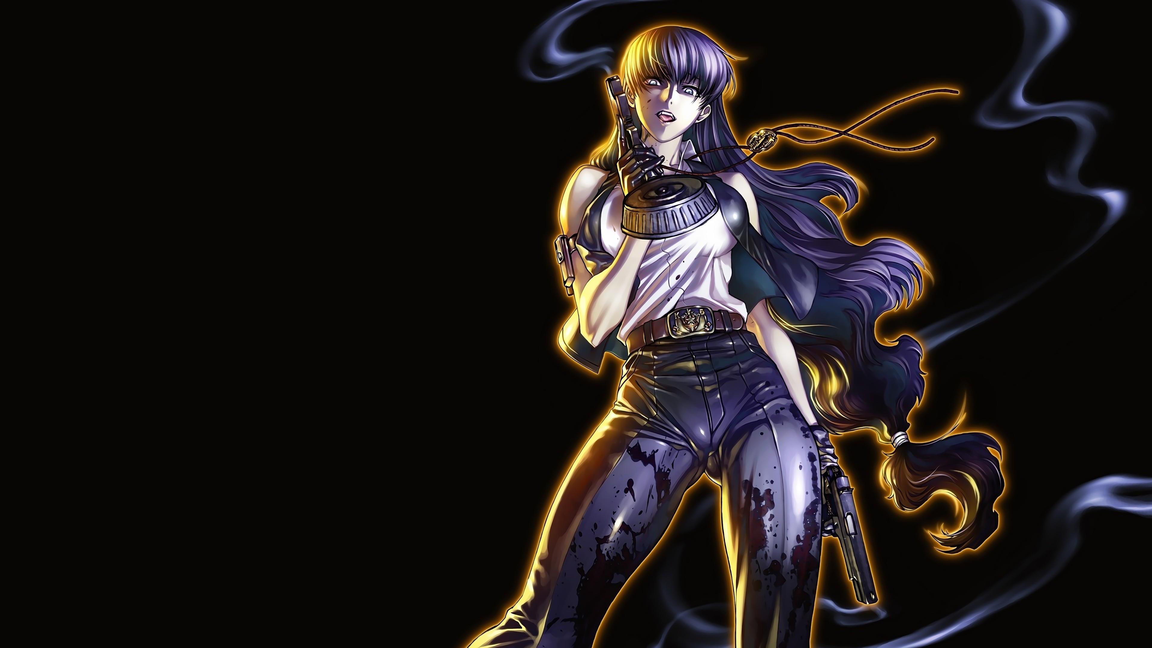 デスクトップ壁紙 ブラックラグーン アニメの女の子 3840x2160