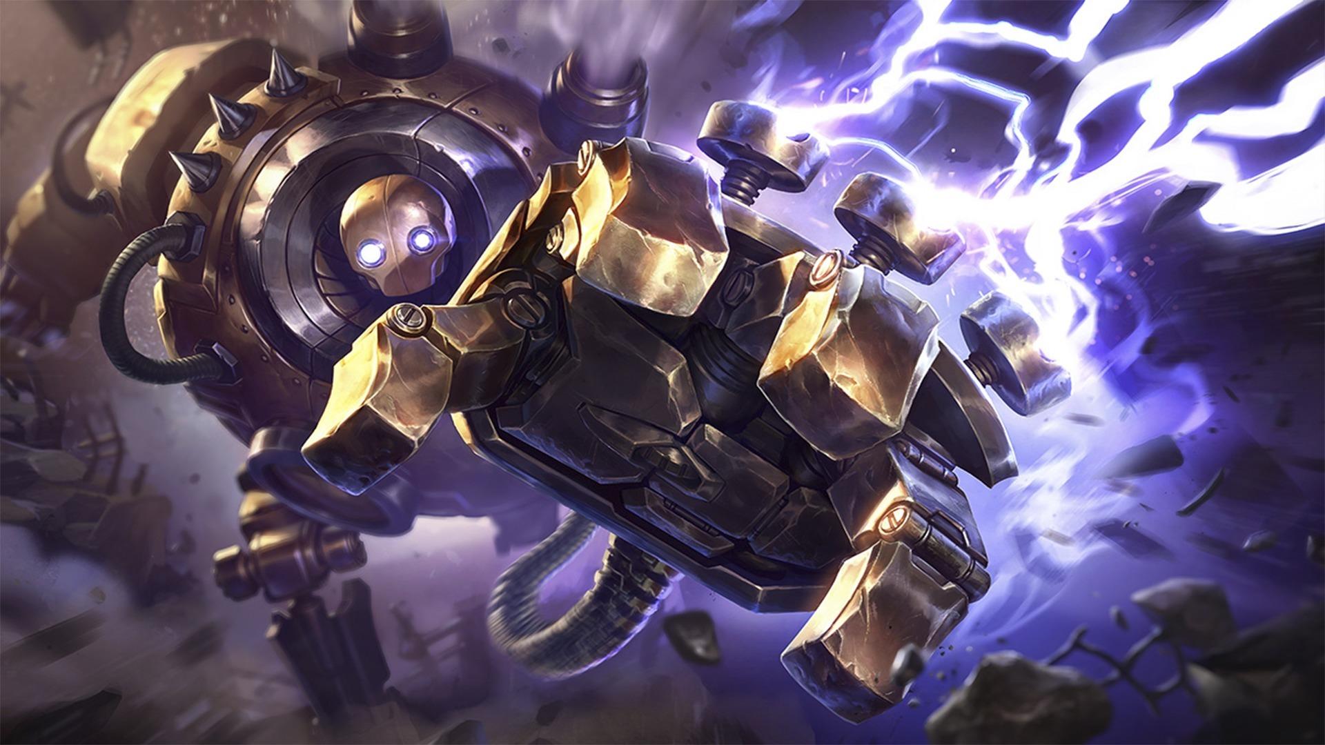 Wallpaper : Blitzcrank League of Legends, video games