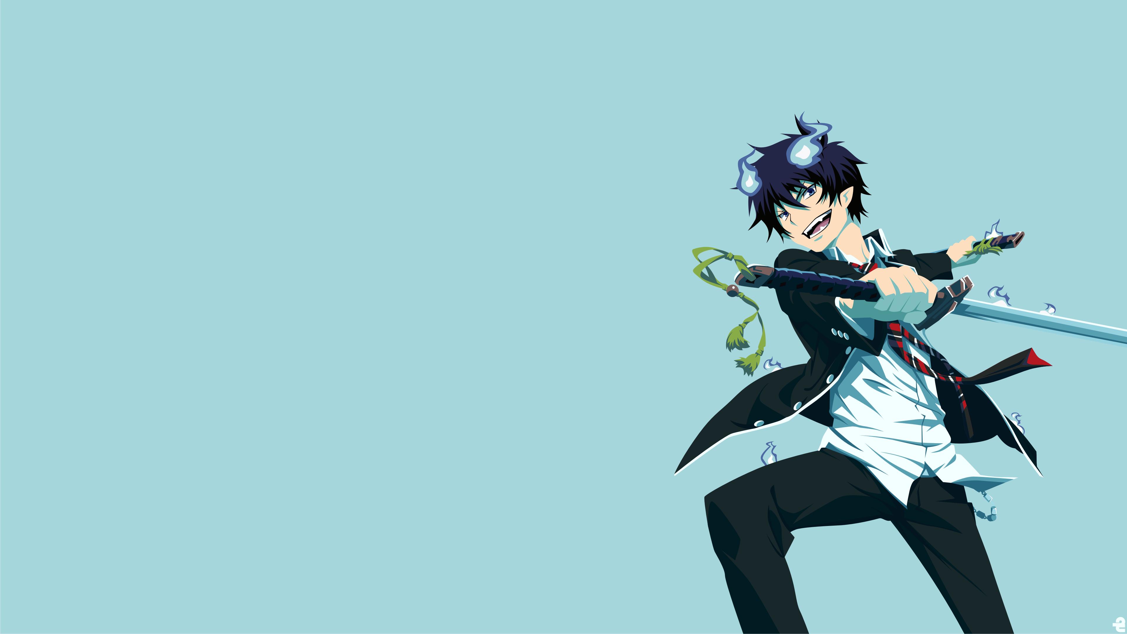 Wallpaper Blue Exorcist Okumura Rin 3840x2160 Hanako 1384463