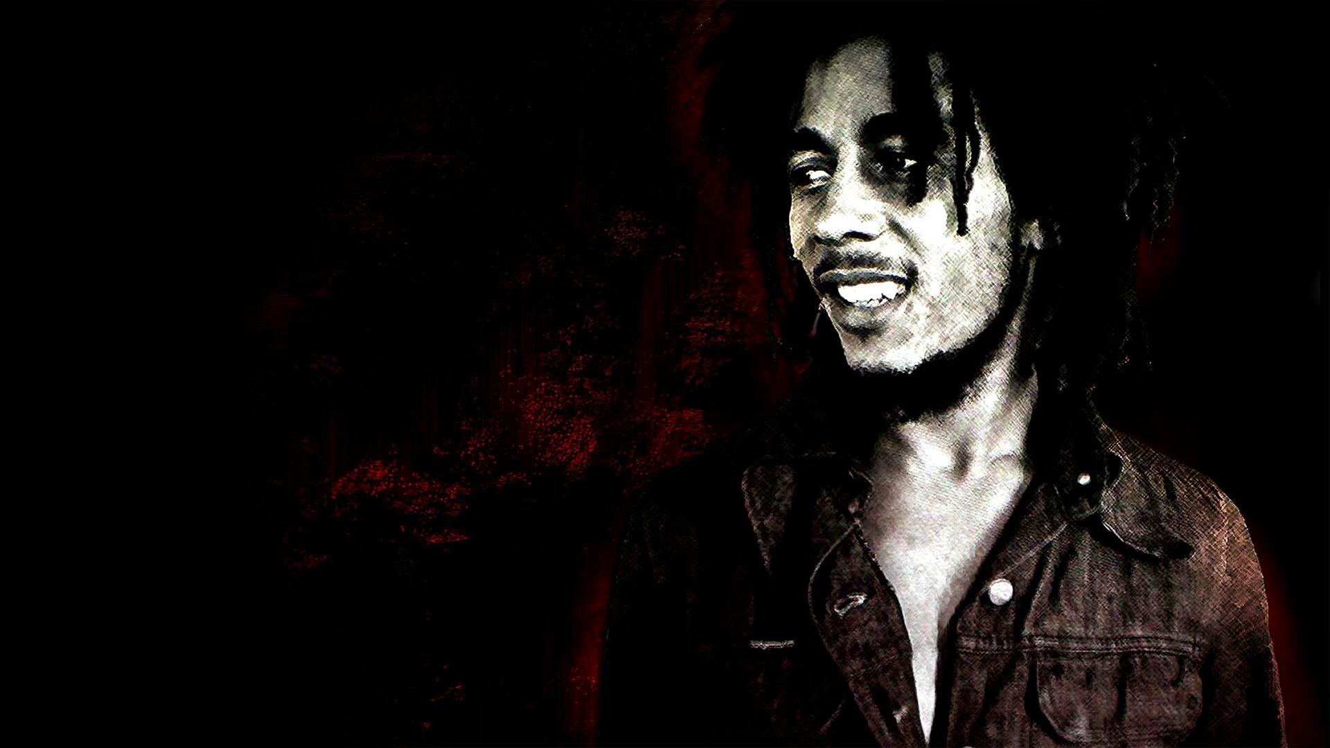 Wallpaper Bob Marley Smile Dreadlocks Face Shirt 1920x1080