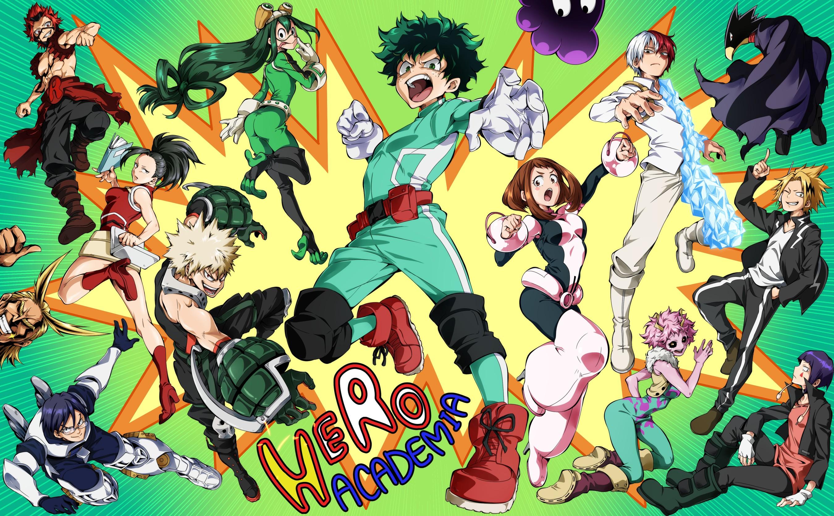 Wallpaper Boku No Hero Academia Midoriya Izuku Tsuyu