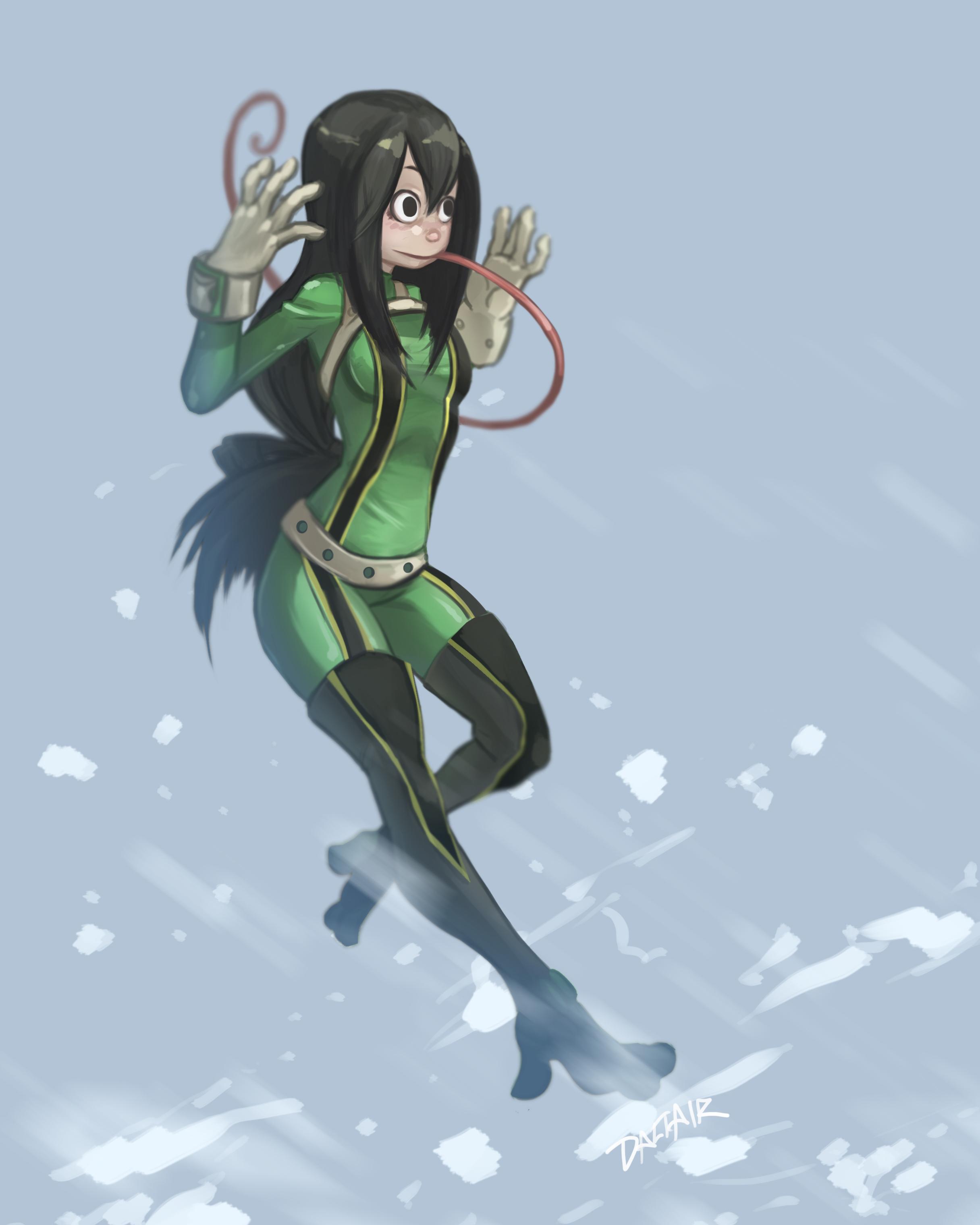 Wallpaper Boku No Hero Academia Anime Girls Tsuyu Asui