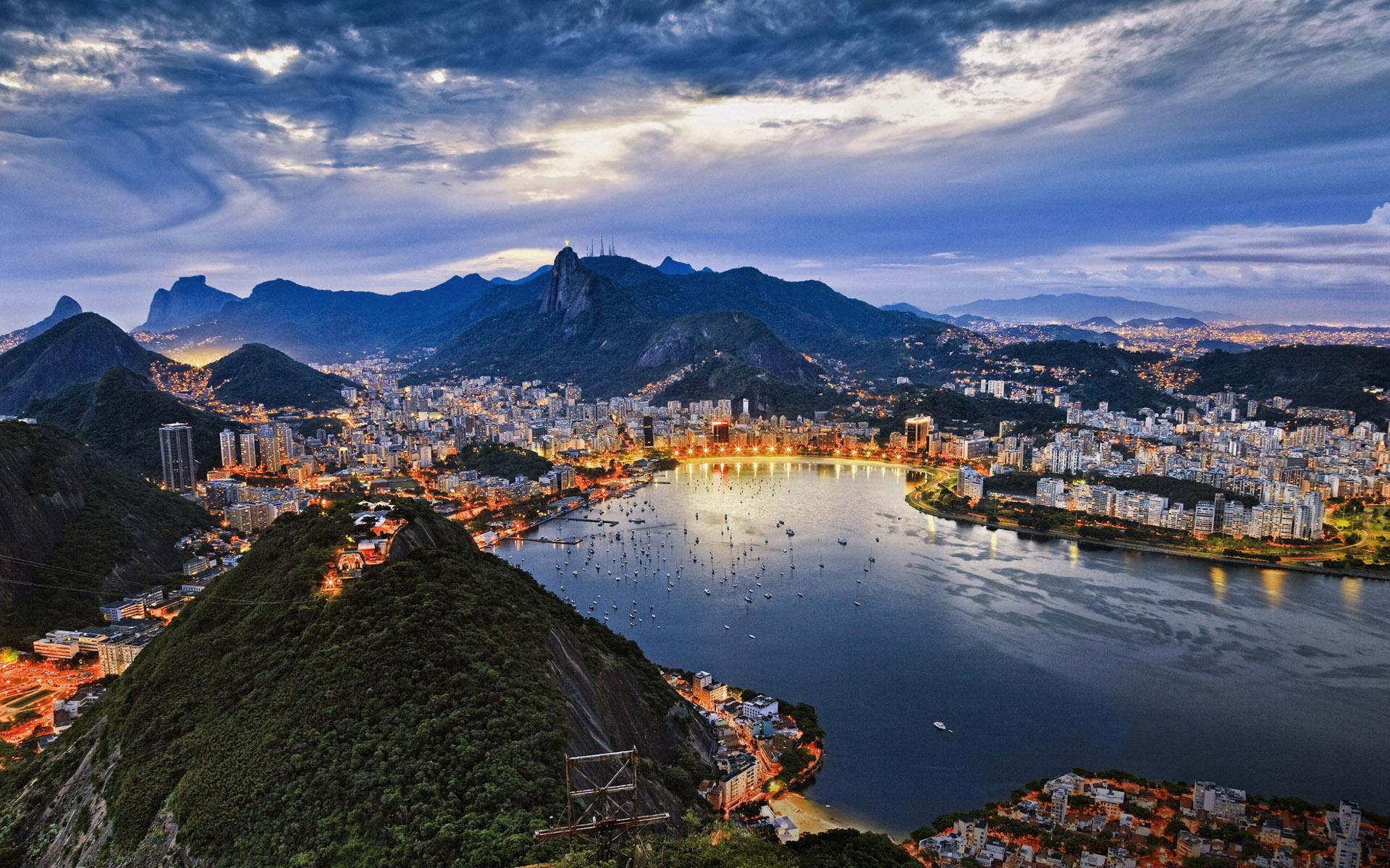 Обои гуанабара, Бразилия, бухта, рио-де-жанейро, Залив. Города foto 7
