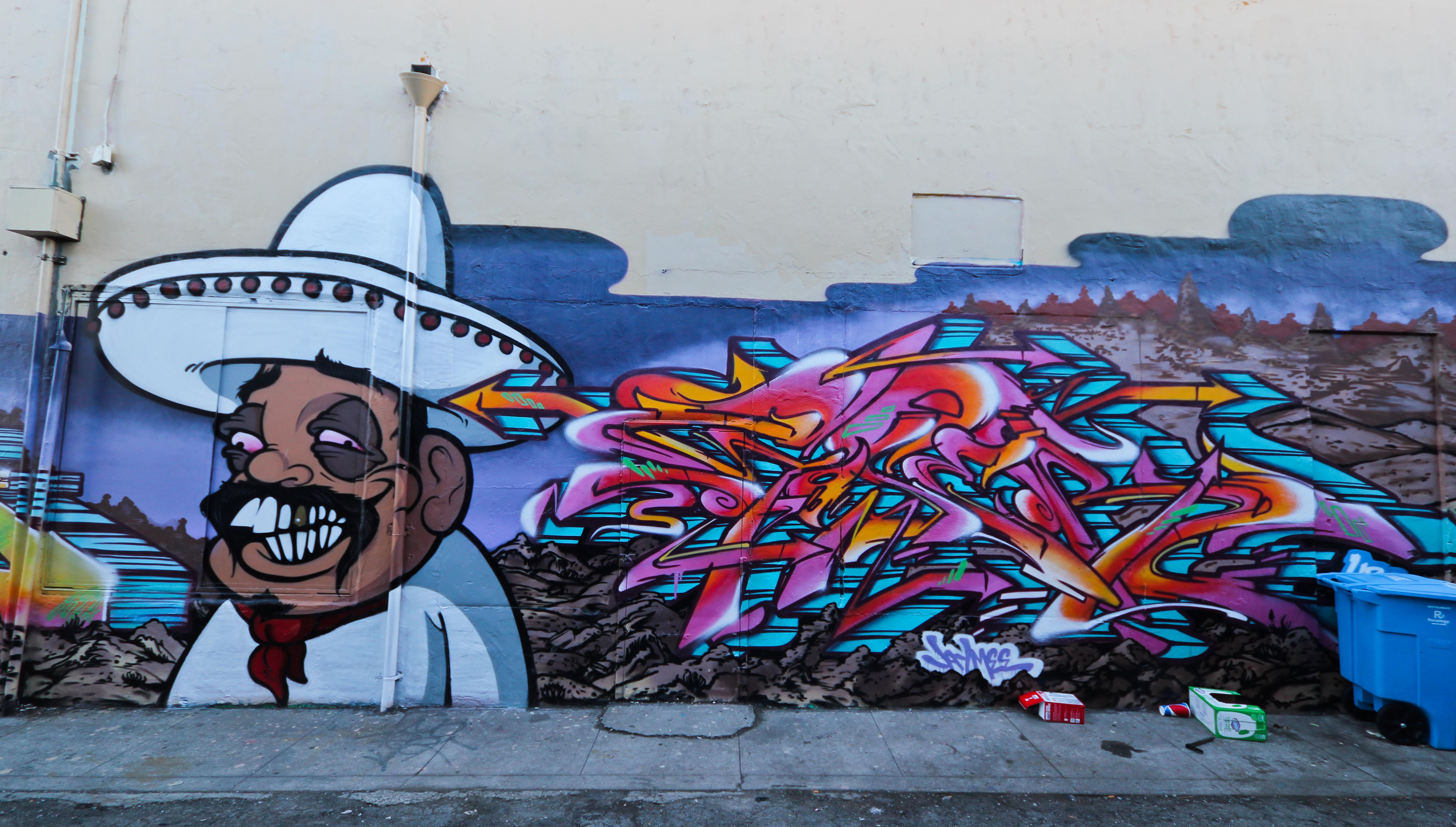 California Graffiti Bay San Francisco Ups Area Northern Emt Goser