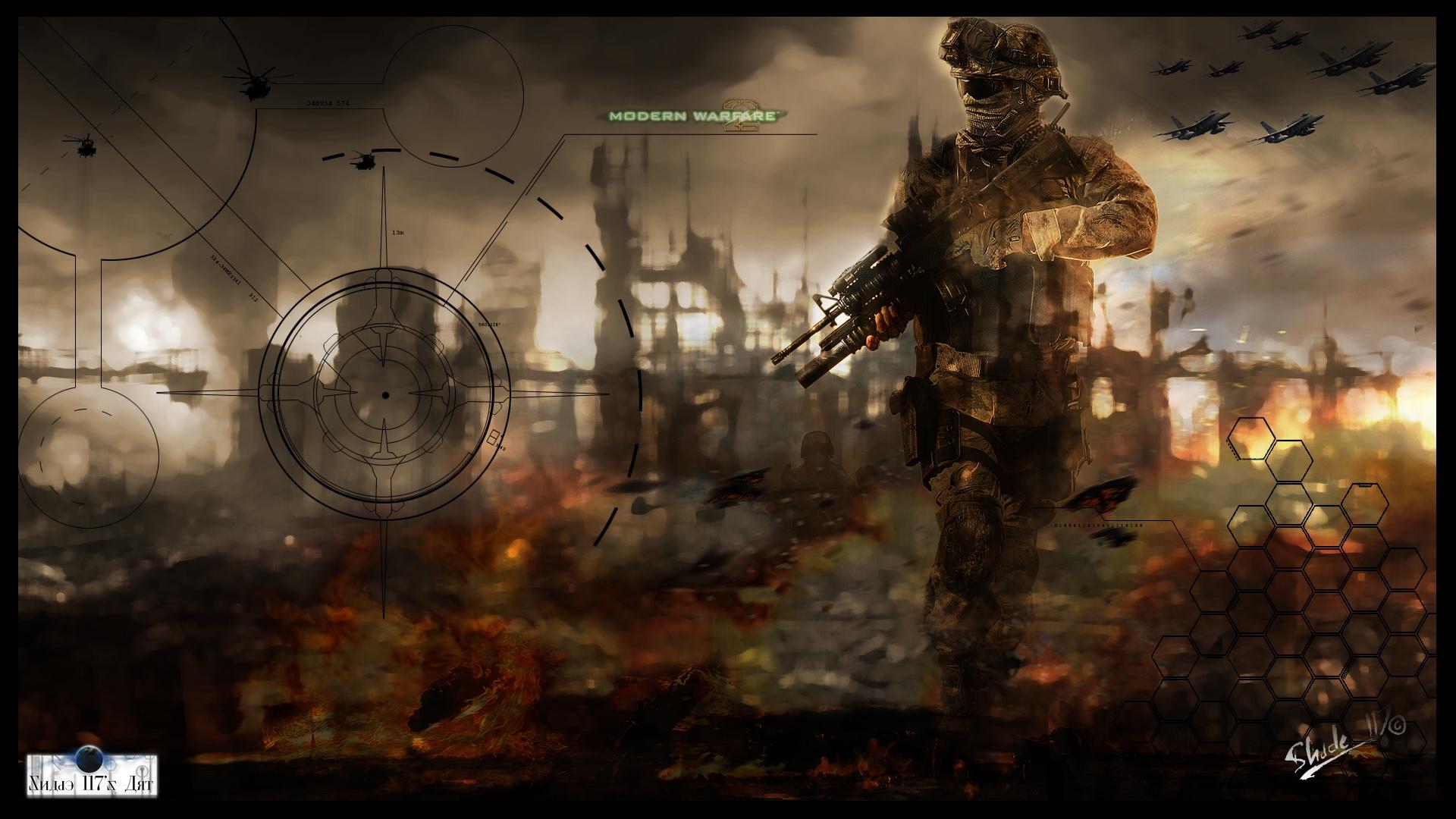 Wallpaper Call Of Duty Modern Warfare 2 Soldier Gun Fighters