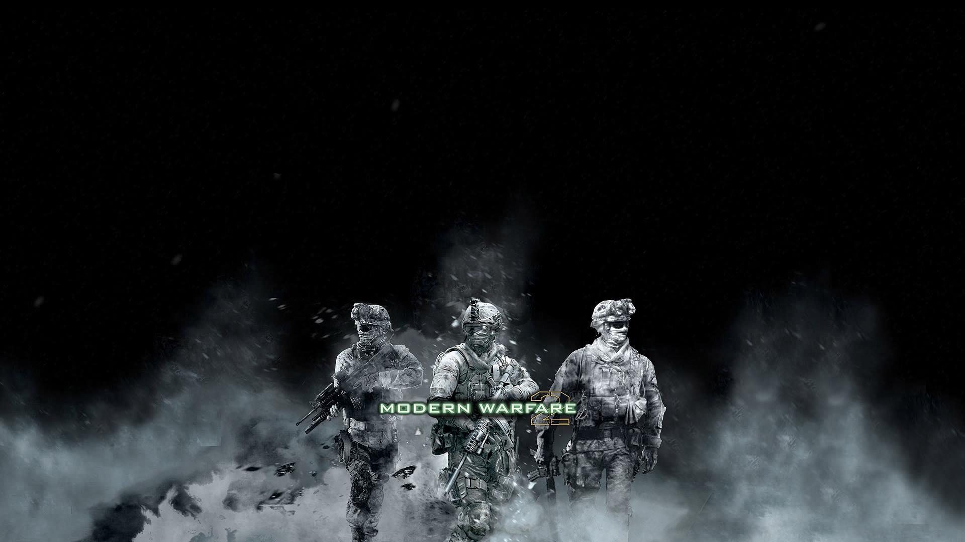 Wallpaper Call Of Duty Modern Warfare 2 Soldiers Smoke