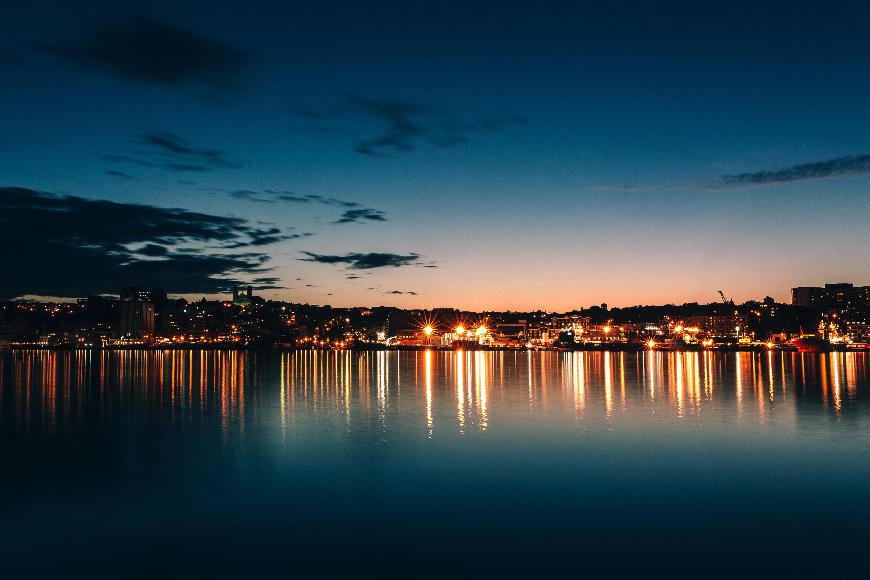 Sfondi Canada Città Di Notte Orizzonte Cielo Mare 5760x3840