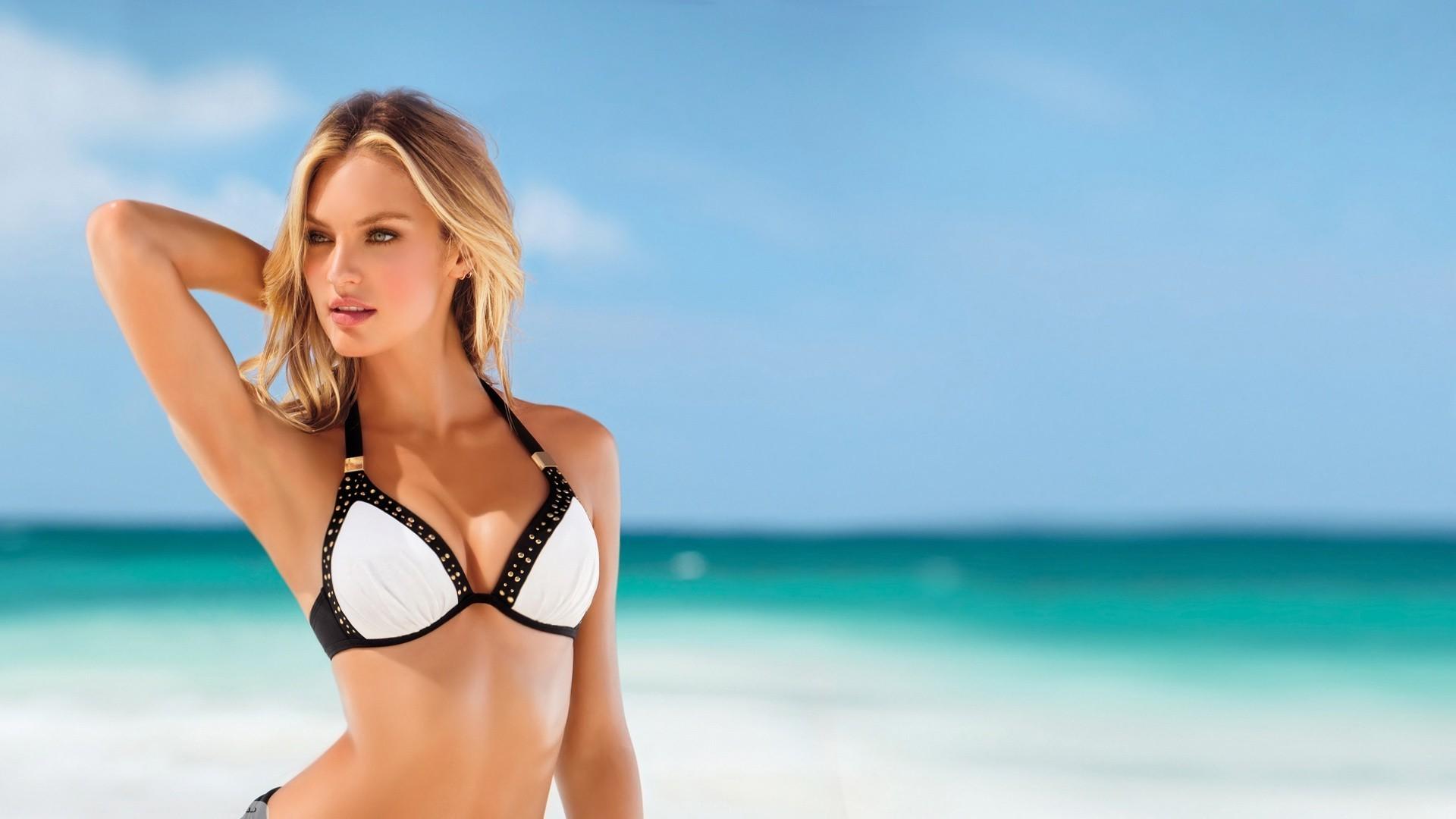 Wallpaper Candice Swanepoel Model Blonde Women Bikini