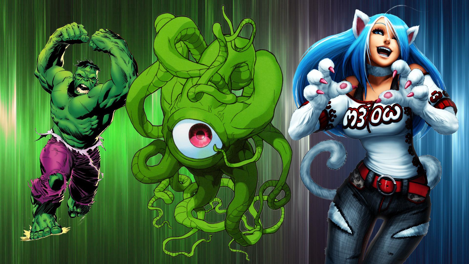 Wallpaper Fighting Games Felicia Character Shuma Gorath Hulk