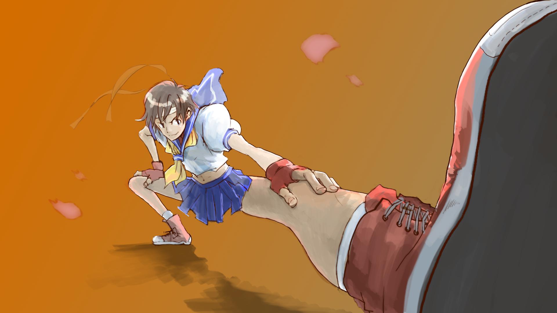 Wallpaper Capcom Street Fighter Fighting Games Kasugano Sakura