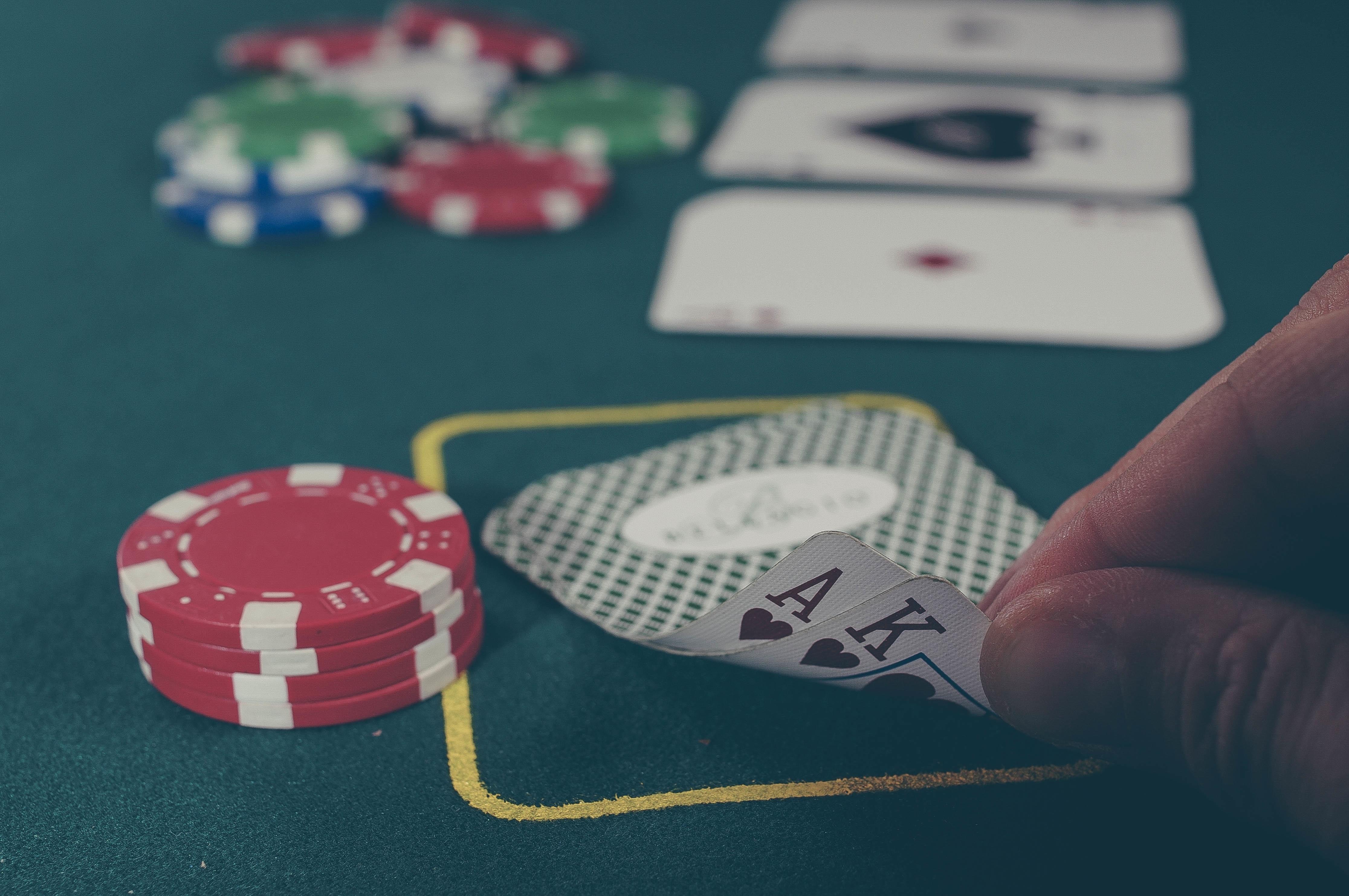 Casino Cards Chips Poker Gambling Blackjack Recreation Games Card Game