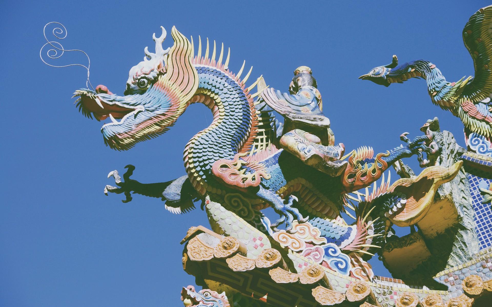 древний китай картинки дракона его жаркими танцами