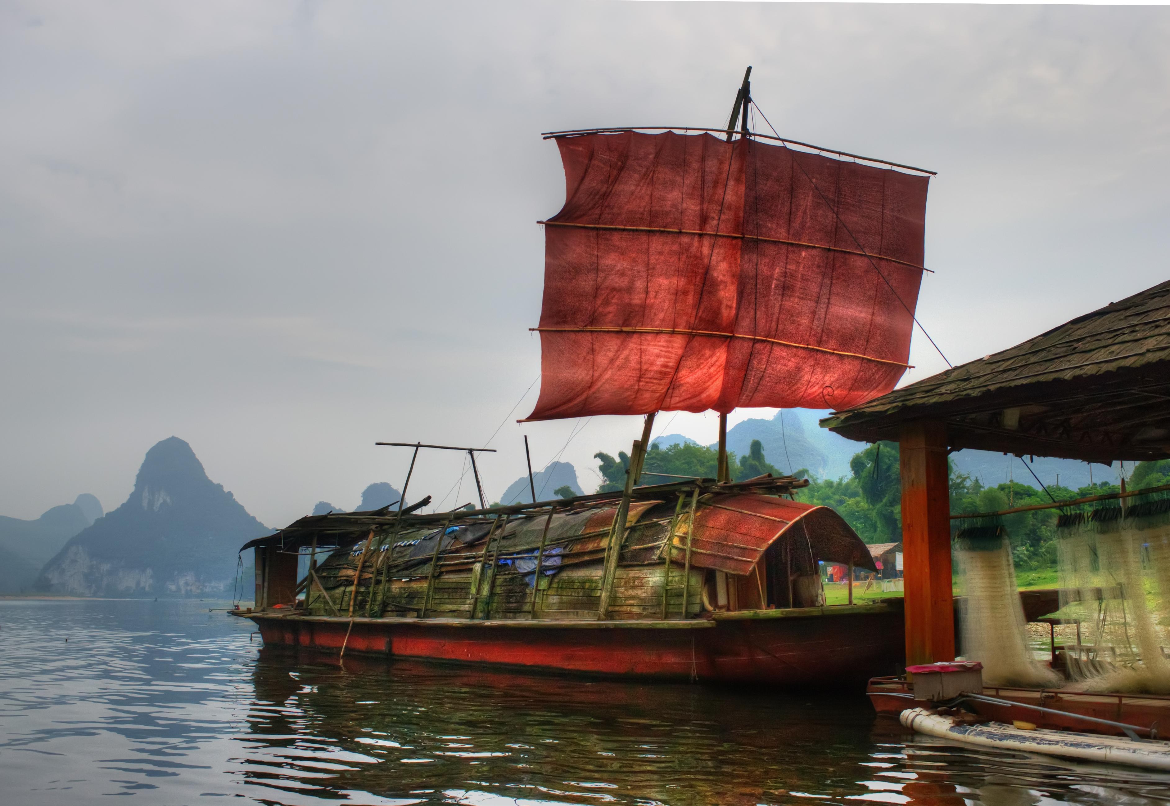фото-туристам аборигены китайские лодки фото практичные, легкие