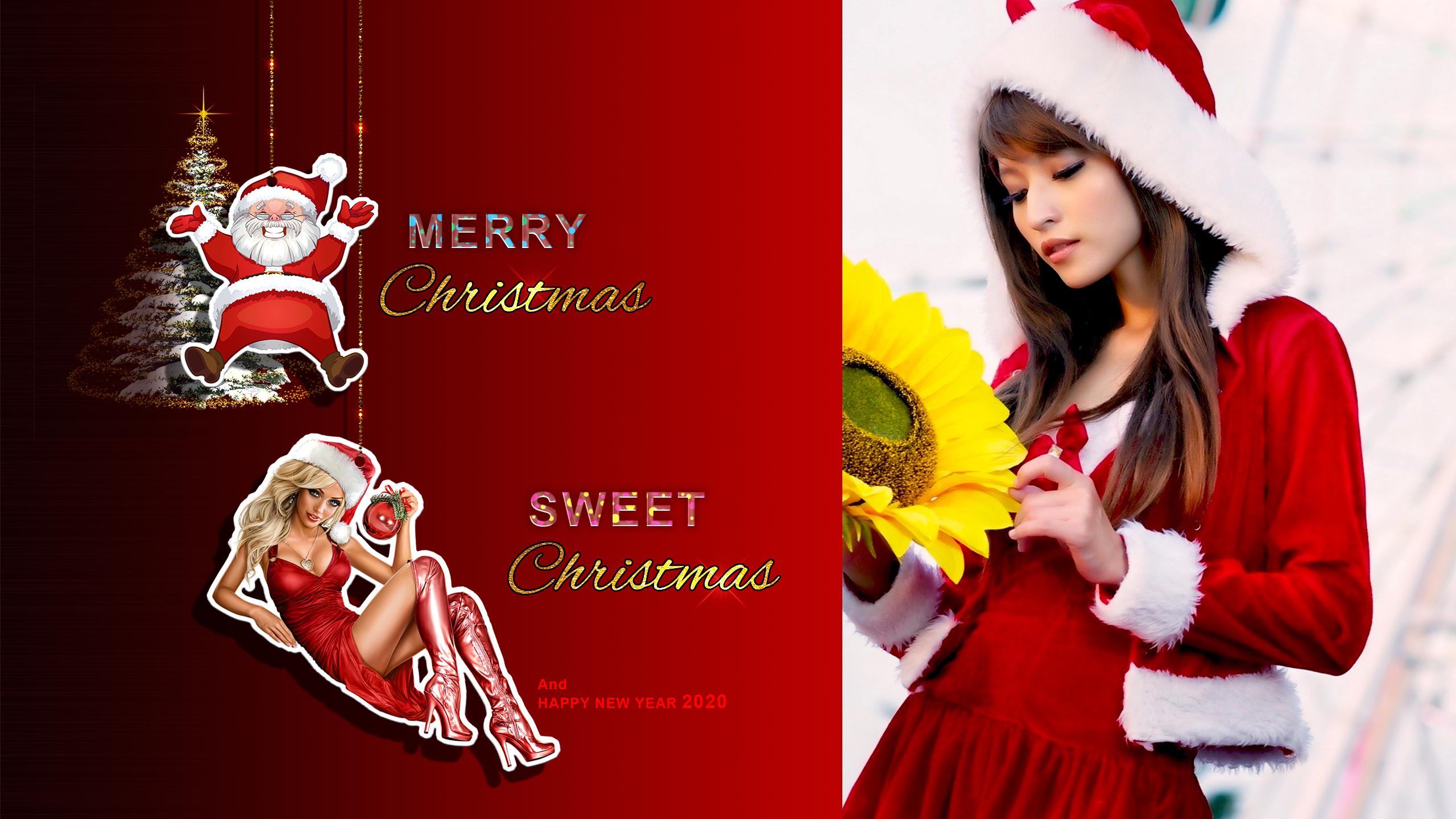 Wallpaper Christmas New Year 2560x1440 Azumi 1714941 Hd Wallpapers Wallhere