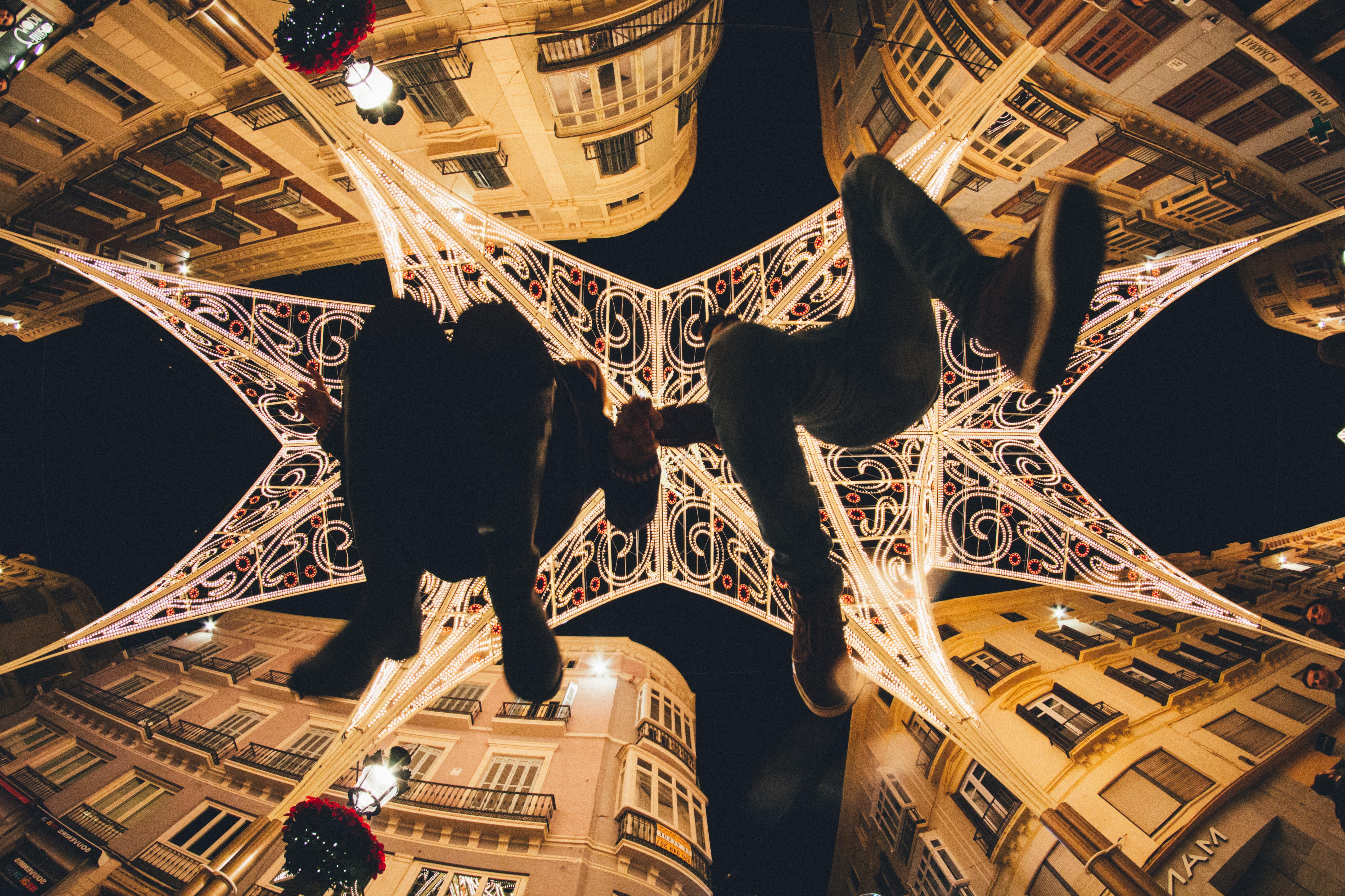 Обои ночь, Malaga city, spain. Города foto 13