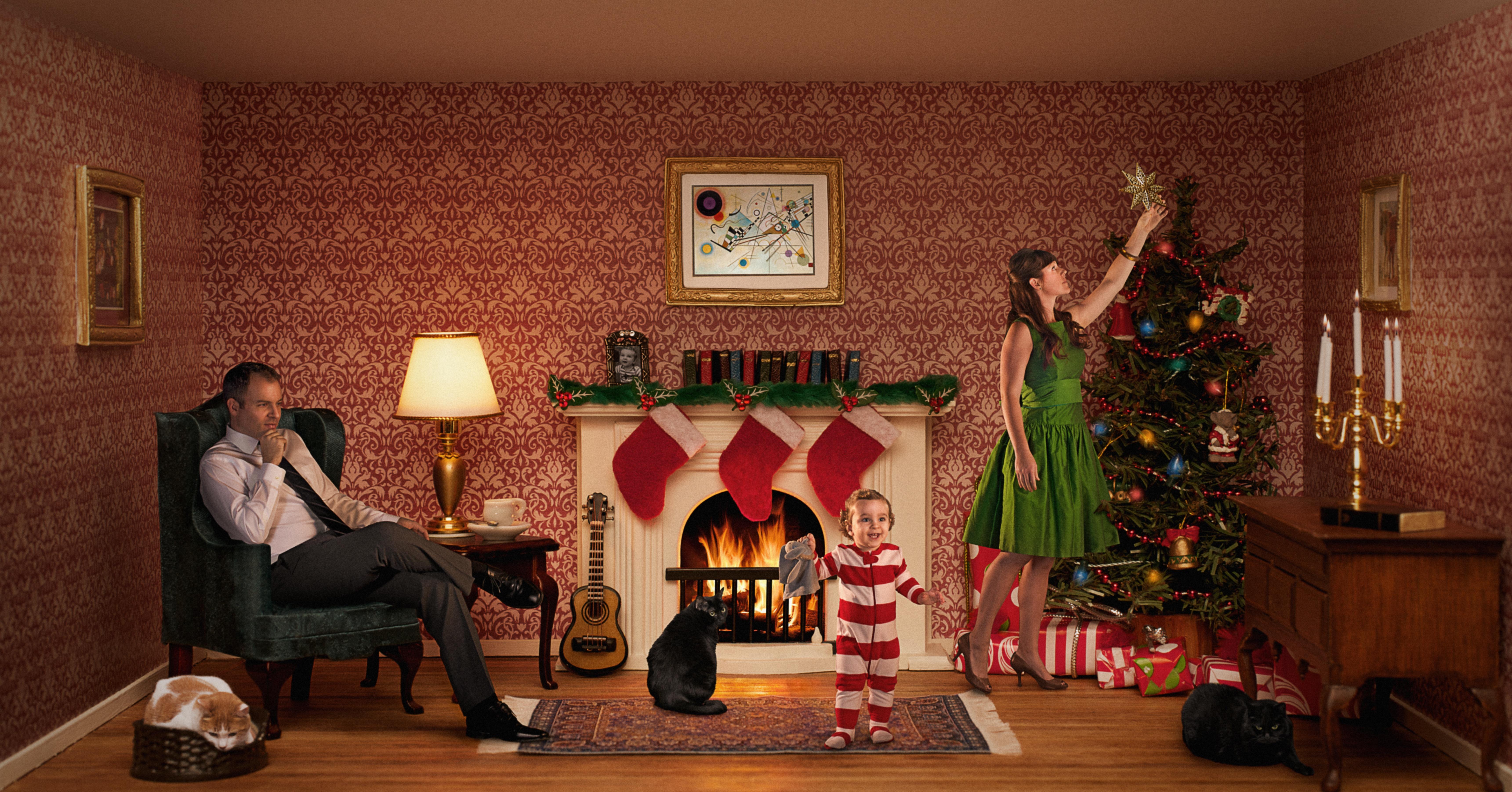 Hintergrundbilder : Weihnachten, Familie, Fenster, Katzen, Lampe ...