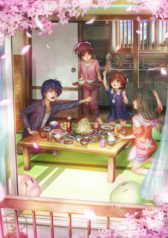 Wallpaper Clannad Nagisa Furukawa Ushio Okazaki Tomoya