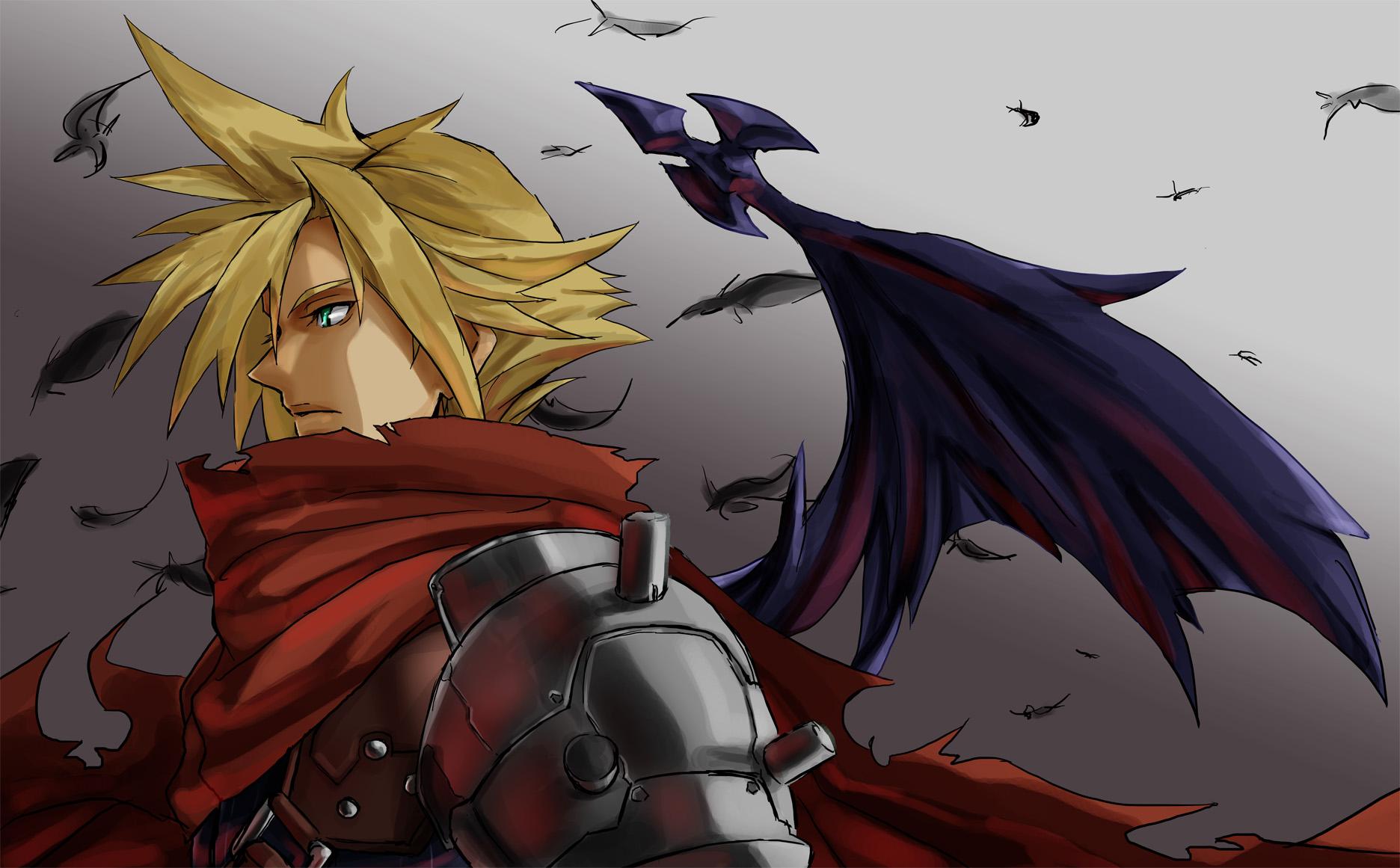 Wallpaper Cloud Strife Kingdom Hearts Final Fantasy Vii