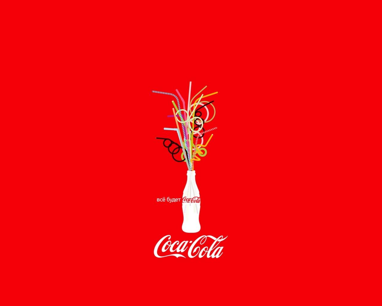 Sfondi Coca Cola Bottiglia Emozioni Luminose Positivo 1280x1024