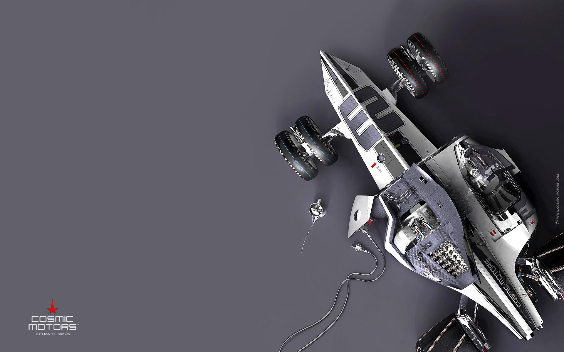 Wallpaper : Cosmic Motors, formula, futuristic, CGI, simple