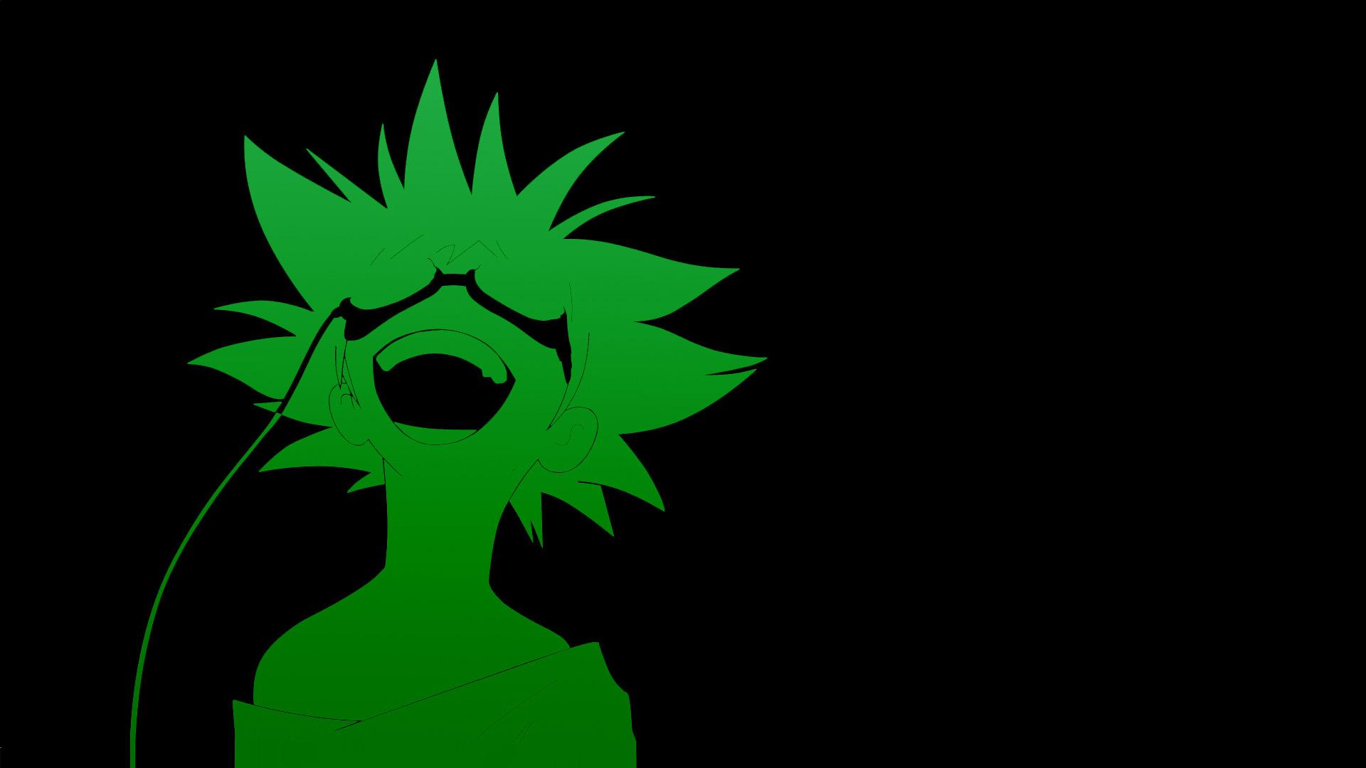 Cowboy Bebop anime green black background anime boys