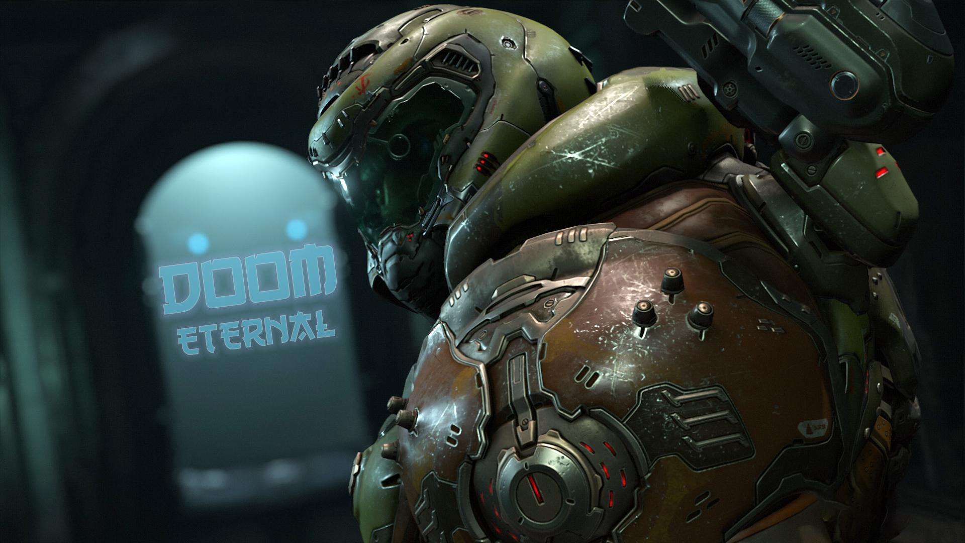 Wallpaper Doom Eternal Doom Guy 1920x1080 Zenome 1838089