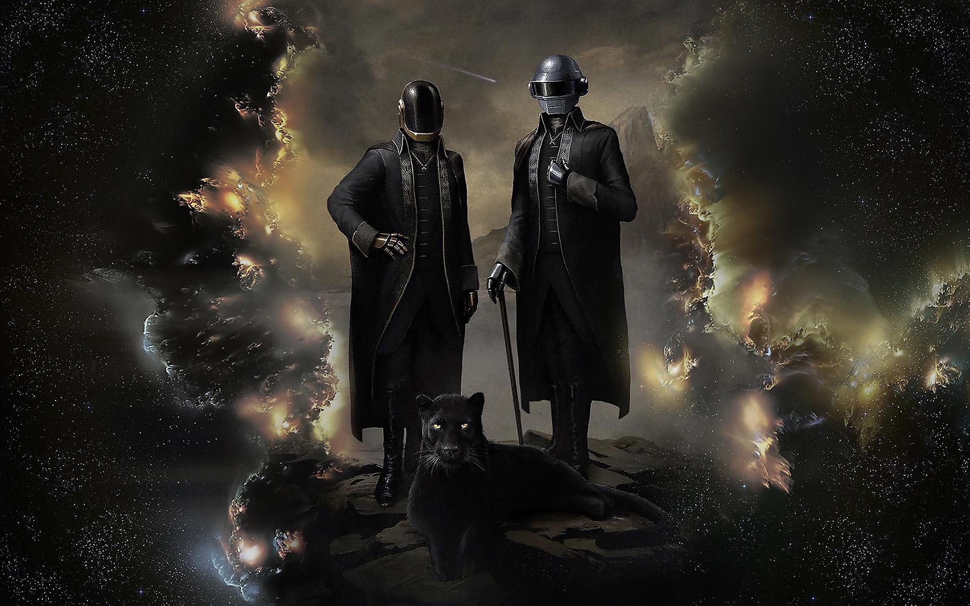 Wallpaper : Daft Punk, panthers, helmet, DJ, suits, music ...