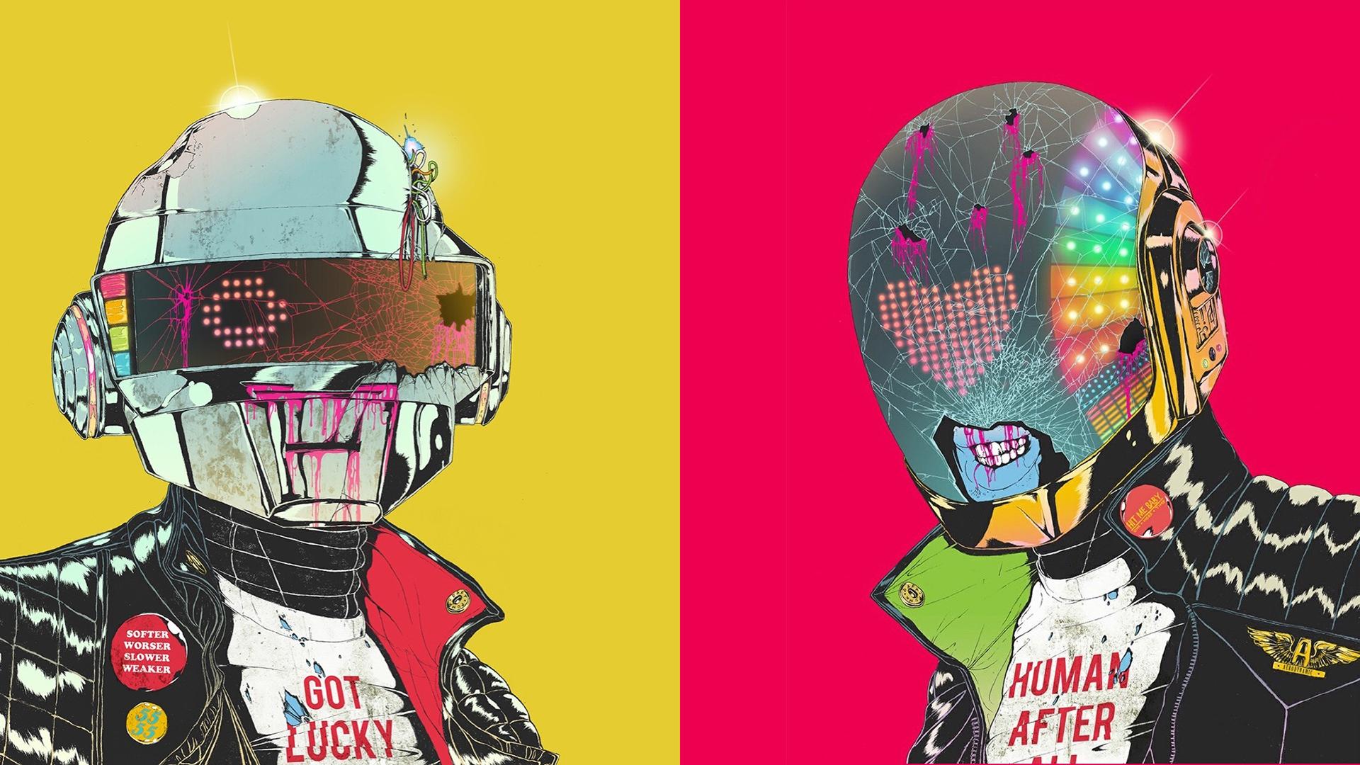 Wallpaper : Daft Punk, zombies, hats, ART 1920x1080 ...