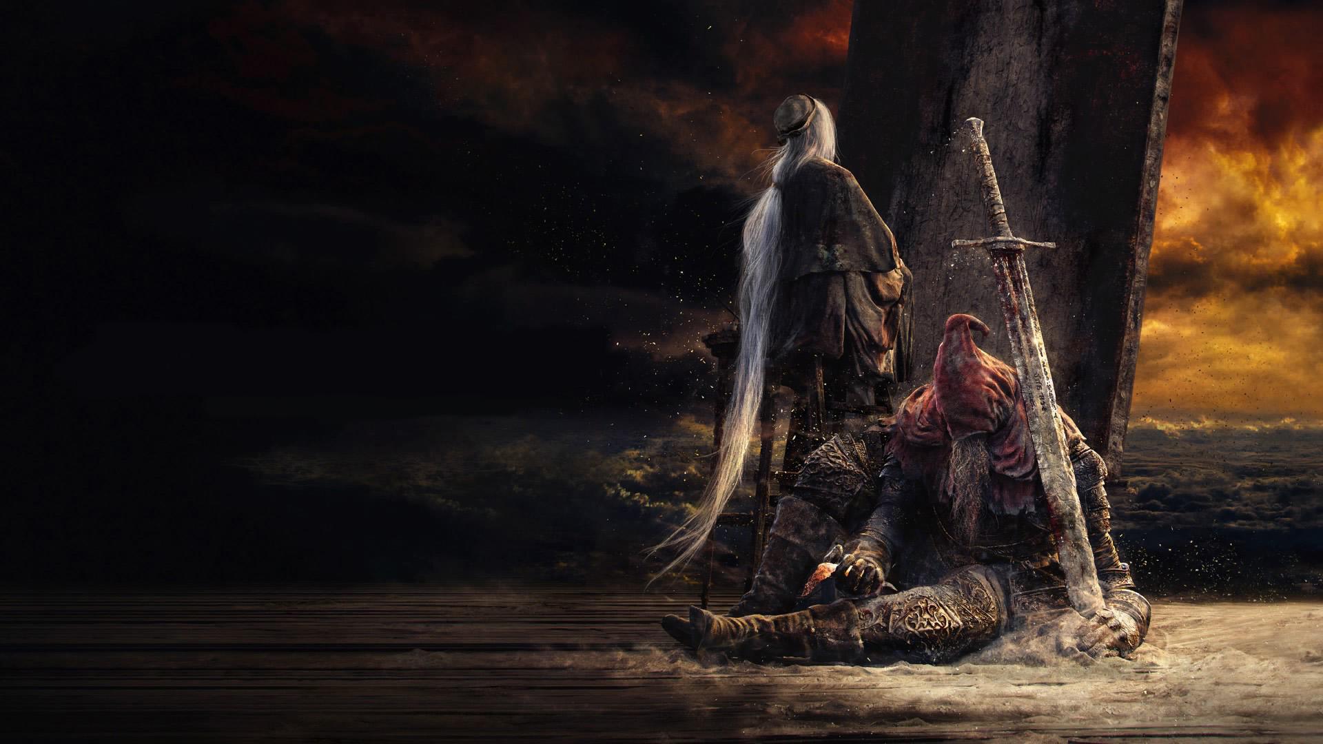 Wallpaper Dark Souls Iii The Painter Slave Knight Gael Ashes