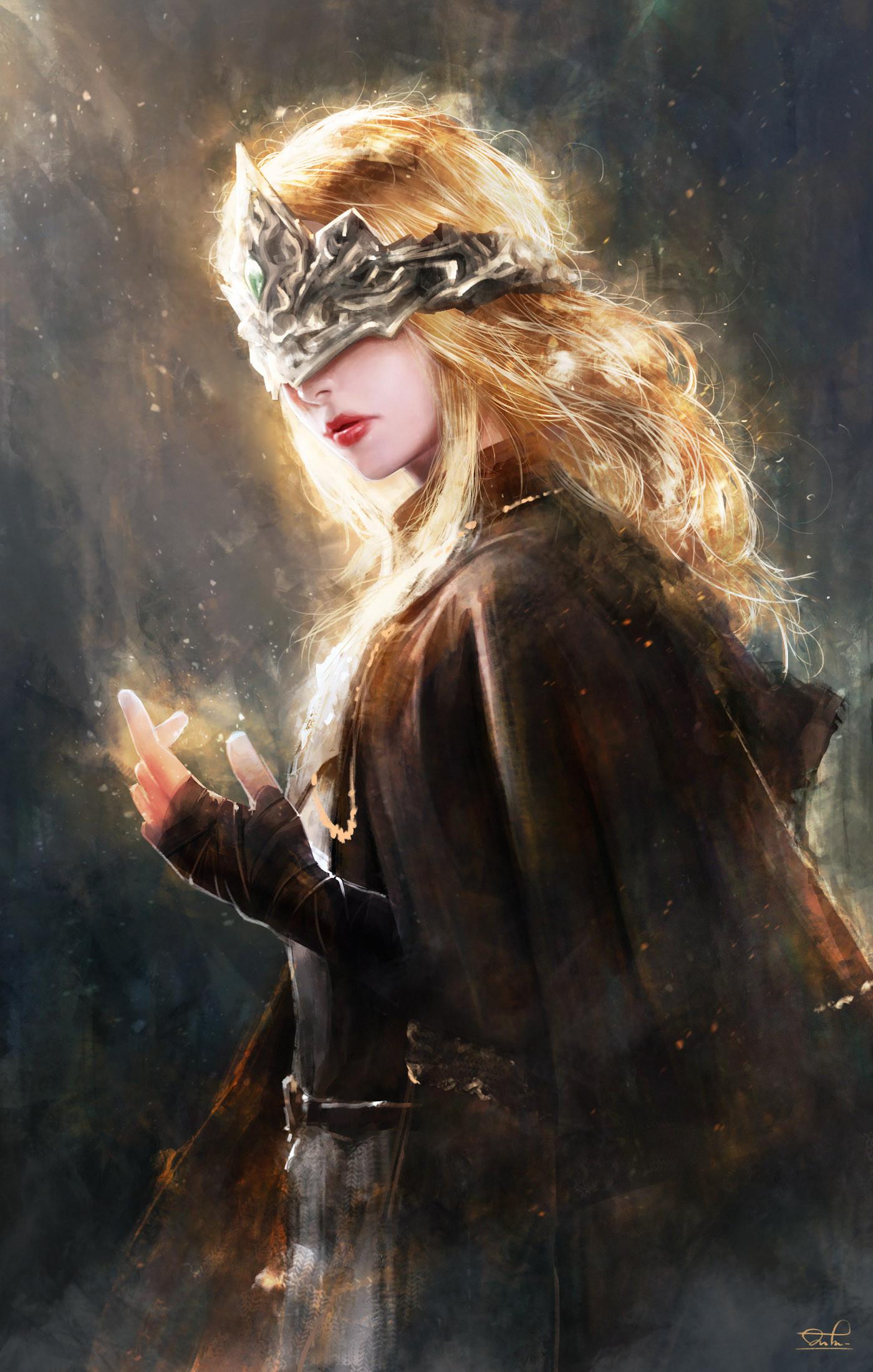 Wallpaper Dark Souls Iii Fire Keeper Fantasy Art Artwork