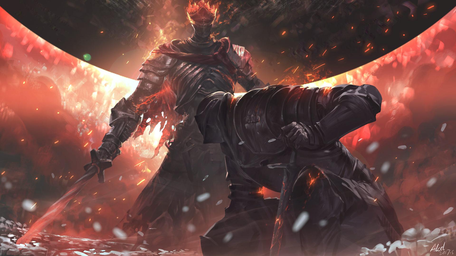 Soul Of Cinder Fan Art: Wallpaper : Dark Souls III, Video Games, RPG, Fire, Soul