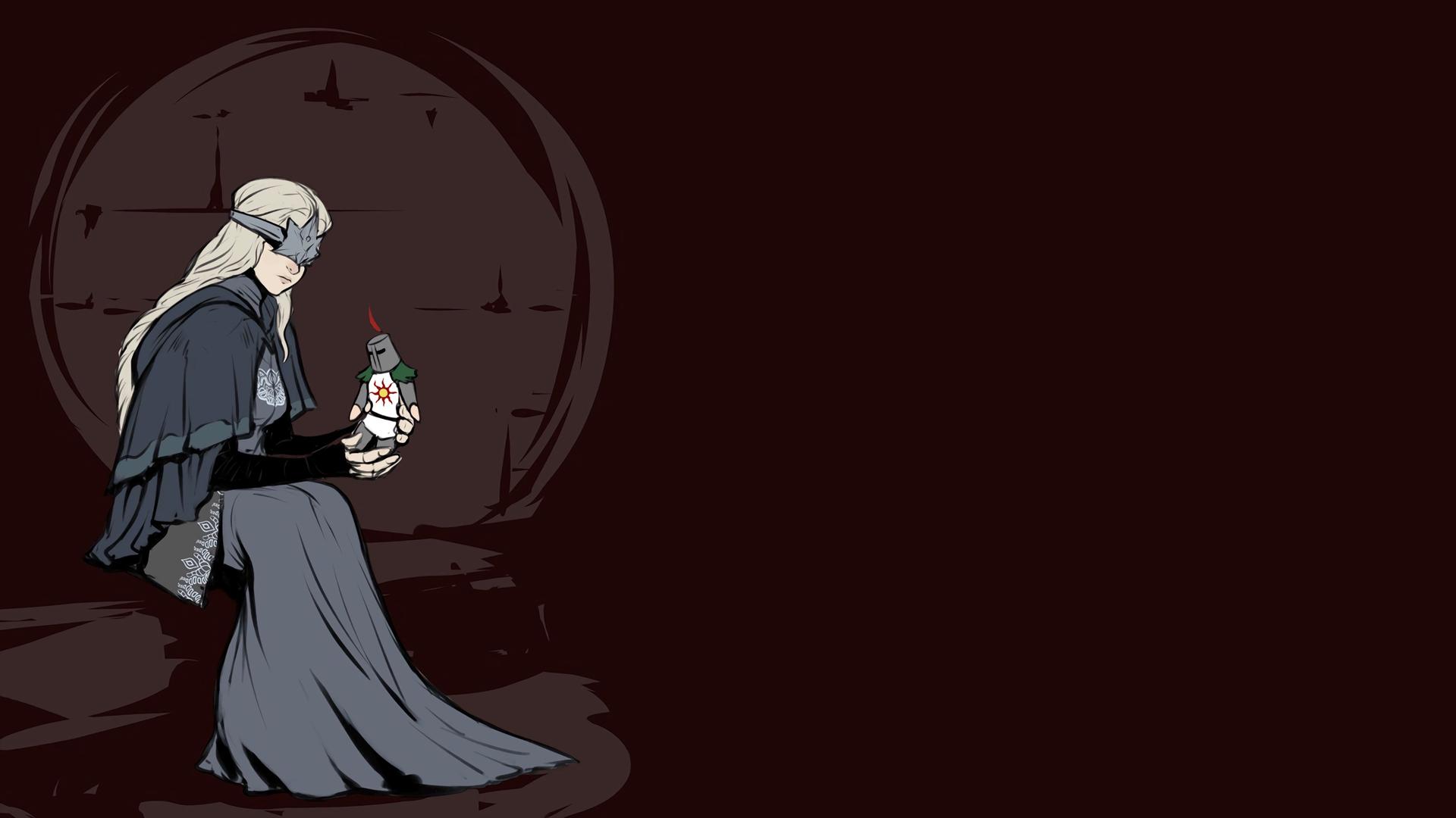 Wallpaper Dark Souls Games Art Brown Fire Keeper Solaire Of