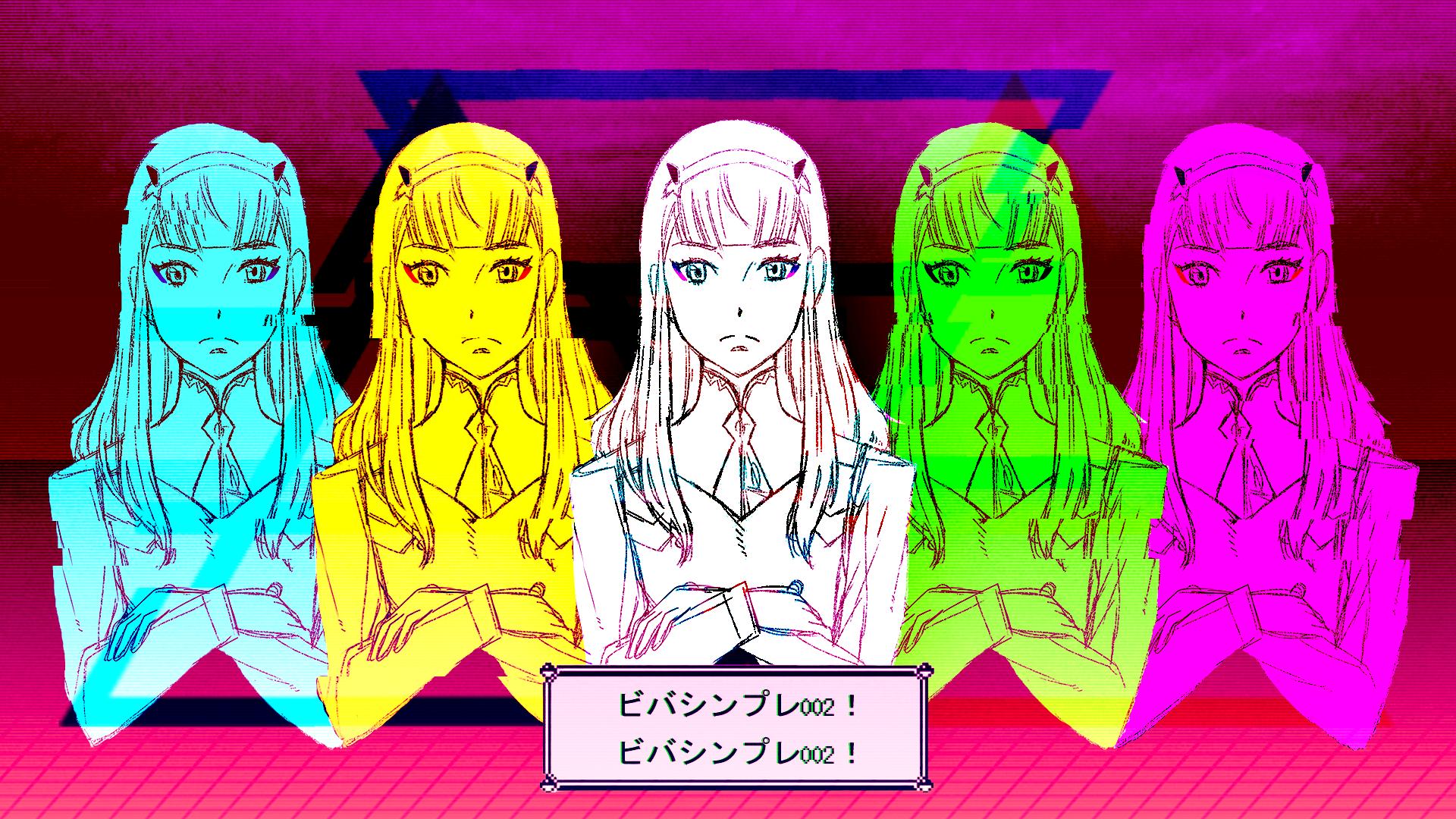 Wallpaper Darling In The Franxx Zero Two Darling In The Franxx Vaporwave Chromatic Aberration Grid Anime Girls Love 1920x1080 Linkswar 1249311 Hd Wallpapers Wallhere