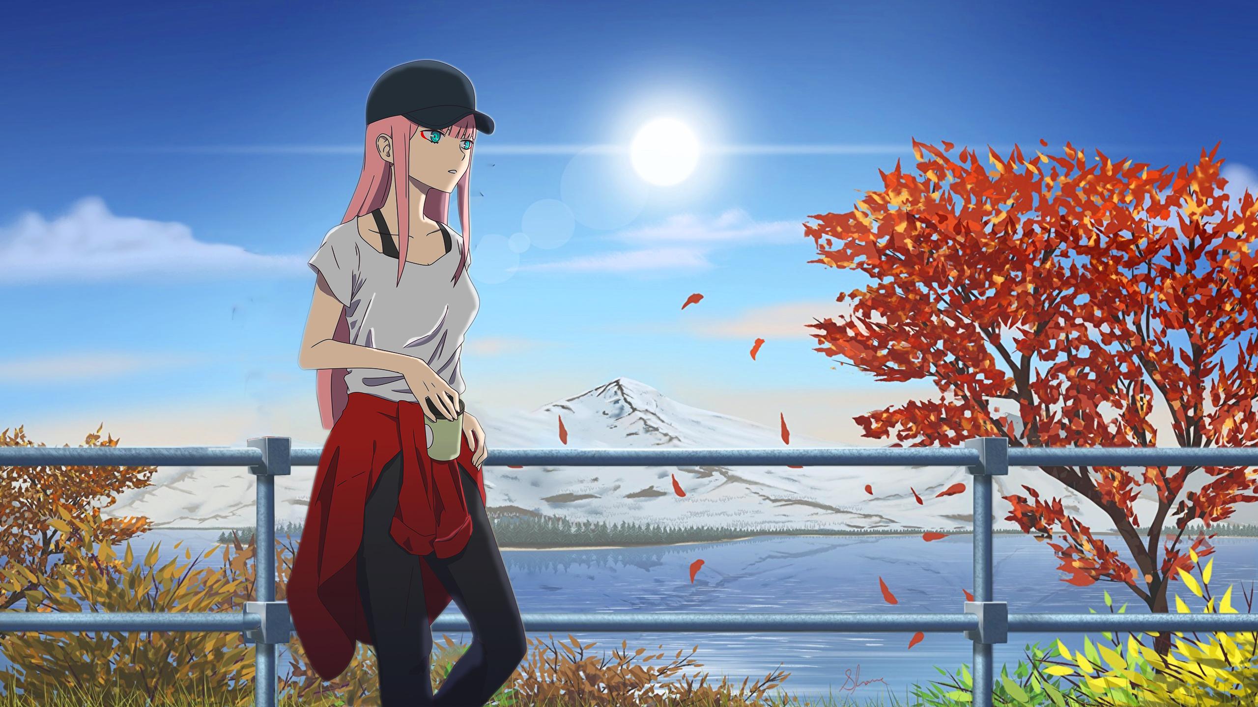 Wallpaper Darling In The Franxx Anime Girls Zero Two Darling
