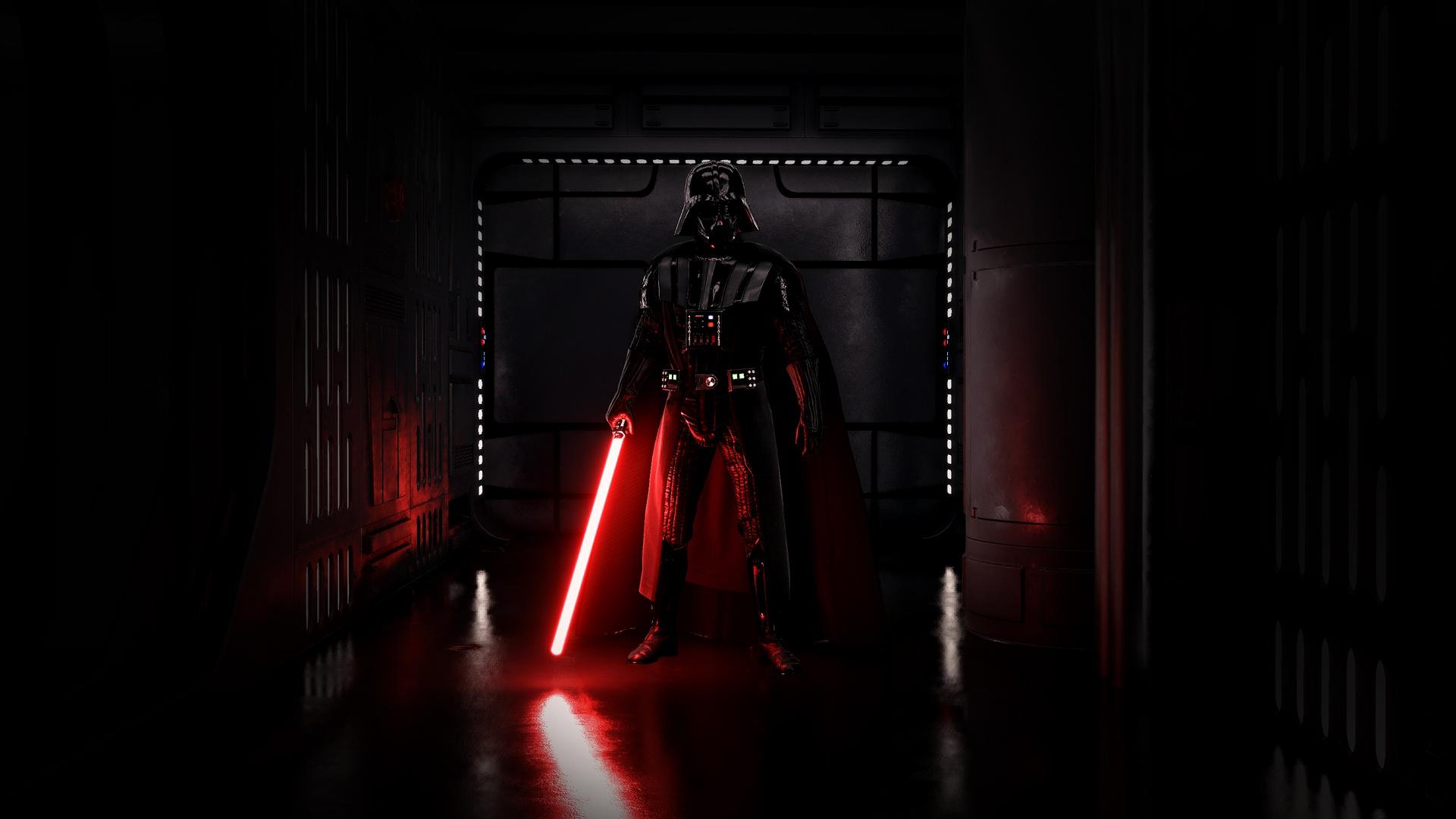 Wallpaper Darth Vader Sith Star Wars Dark Lightsaber
