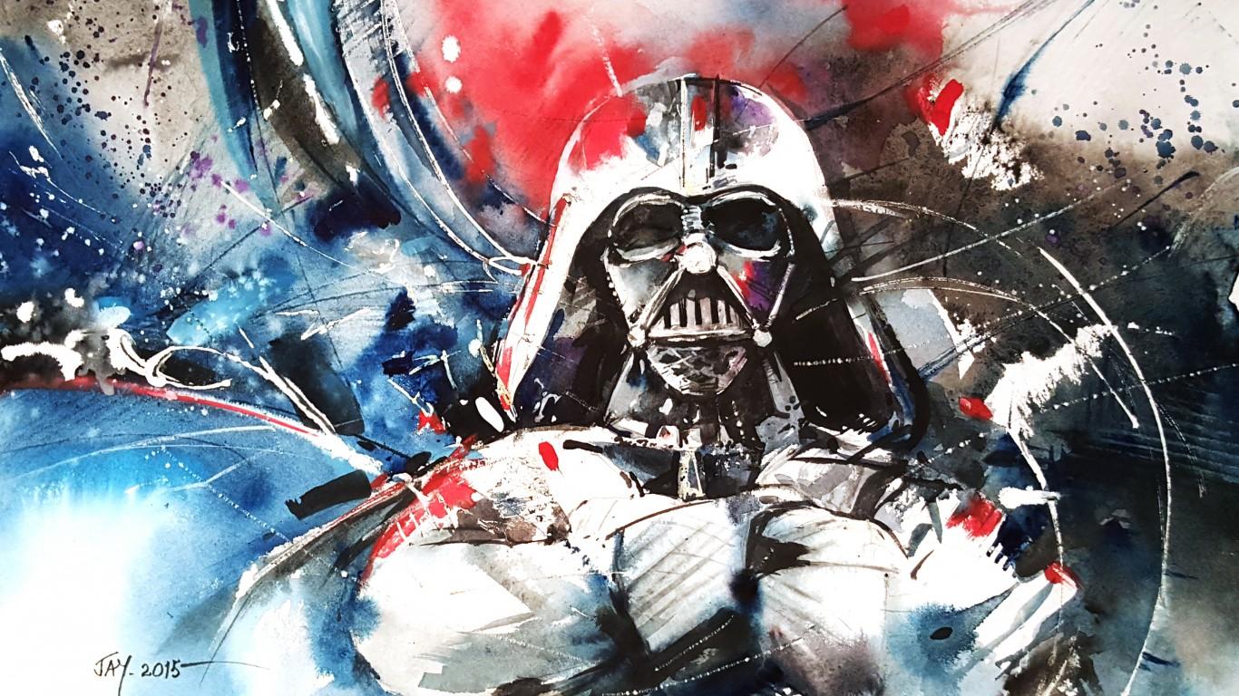 Wallpaper Darth Vader Star Wars Abstraction ART 1366x768