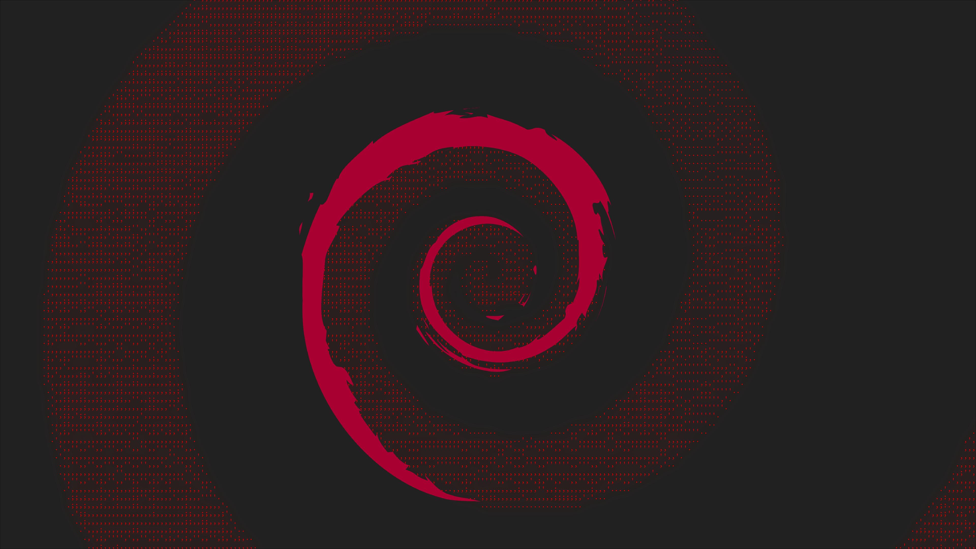 Wallpaper Debian Linux Minimalism Material Minimal Neon Glow