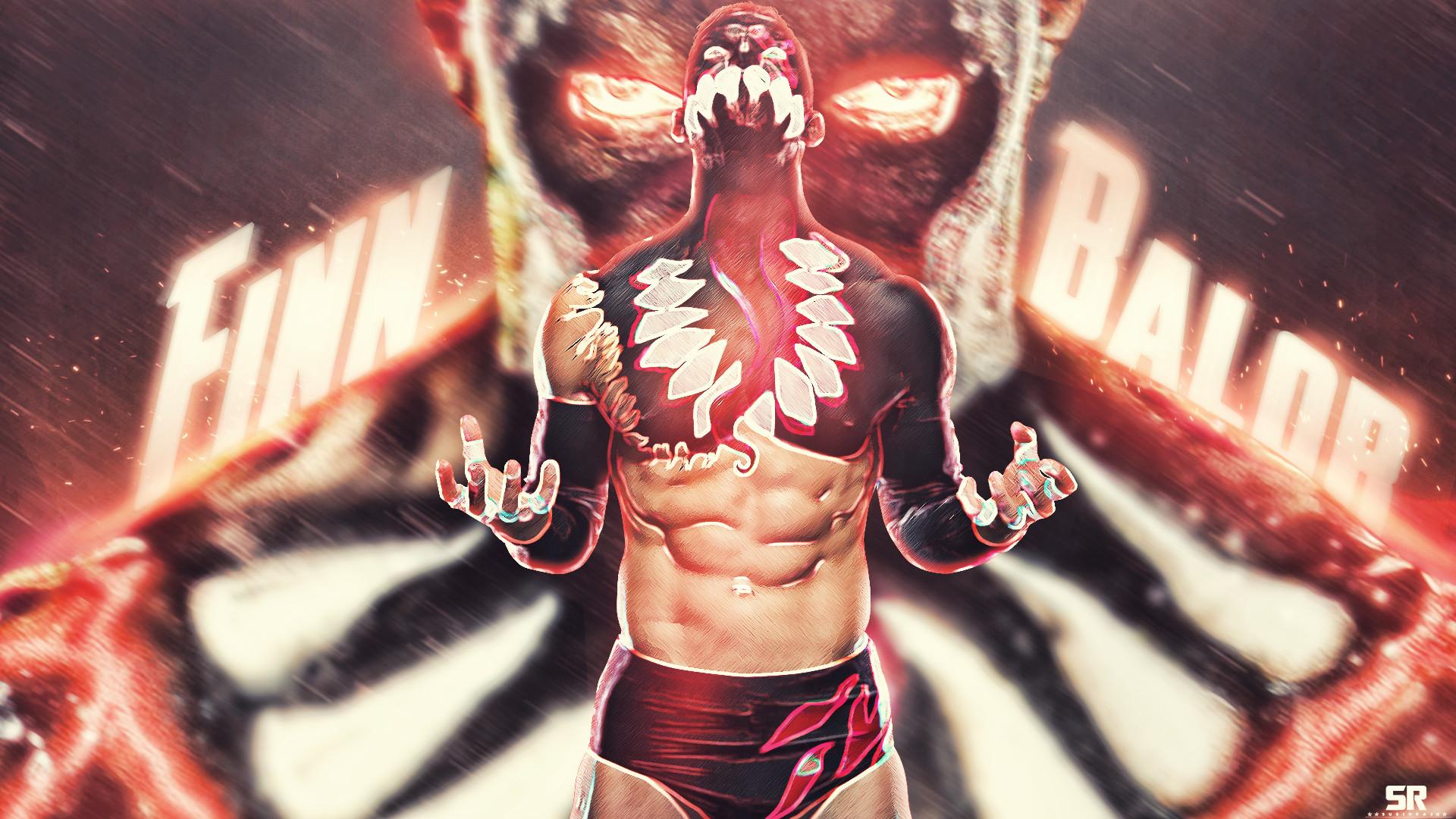 Wallpaper Demon King Finn Balor Wwe Wrestling