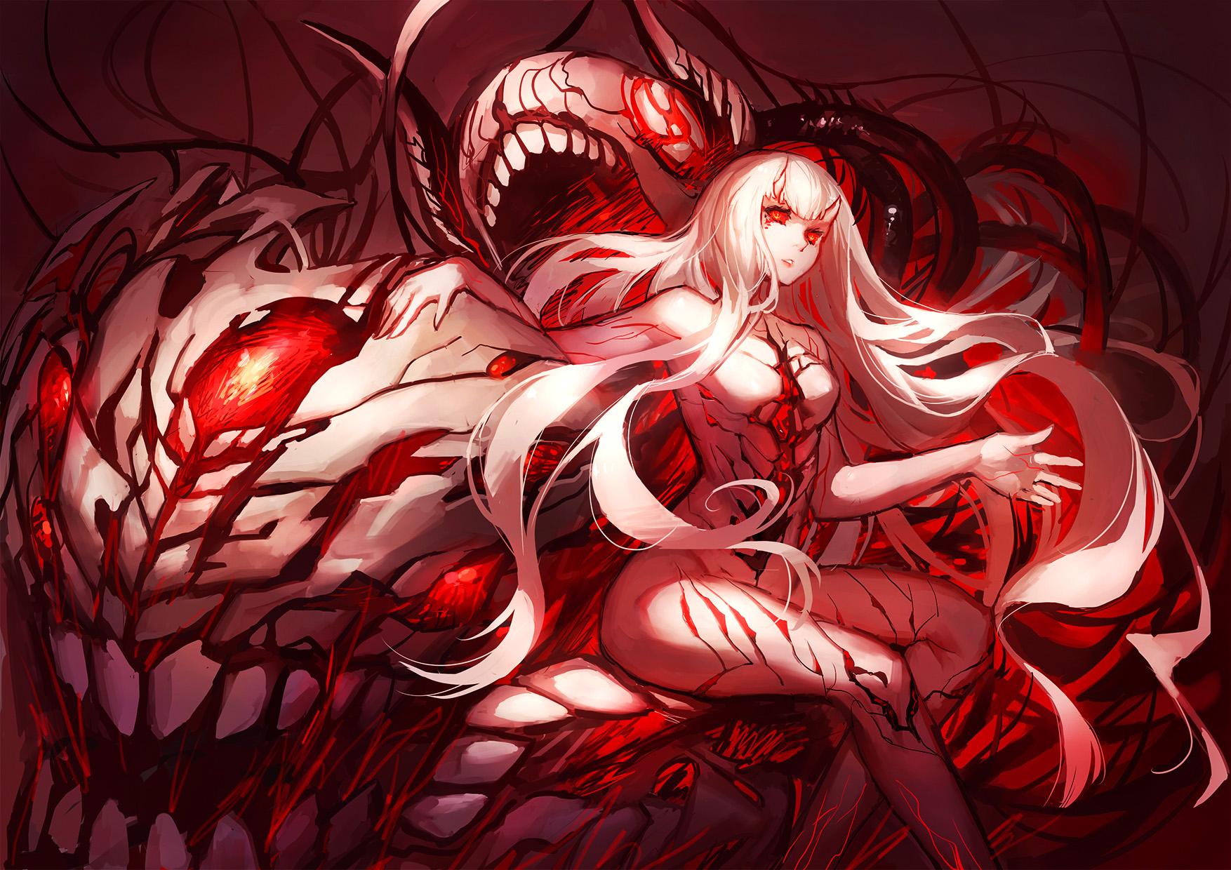 ác quỷ Anime quái vật Đỏ